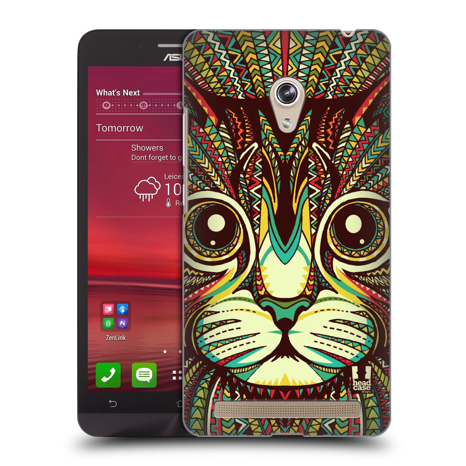 HEAD CASE plastový obal na mobil Asus Zenfone 6 vzor Aztécký motiv zvíře 2 kotě