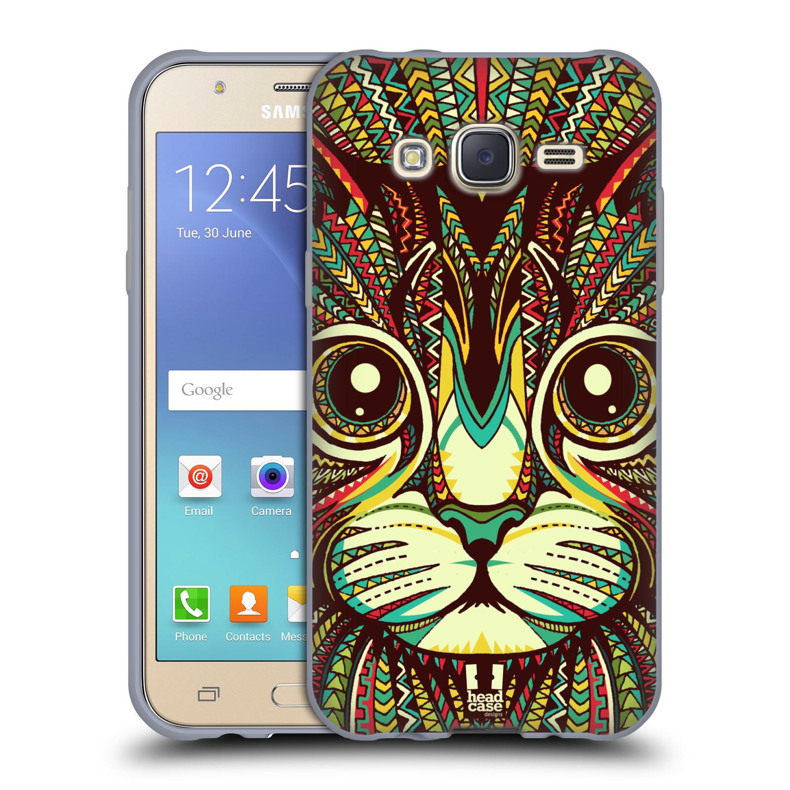 HEAD CASE silikonový obal na mobil Samsung Galaxy J5, J500, (J5 DUOS) vzor Aztécký motiv zvíře 2 kotě