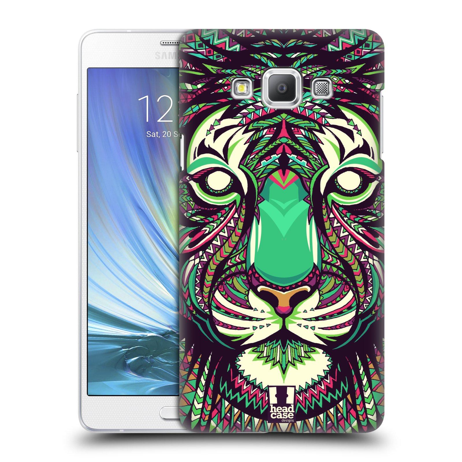 HEAD CASE plastový obal na mobil SAMSUNG GALAXY A7 vzor Aztécký motiv zvíře 2 tygr