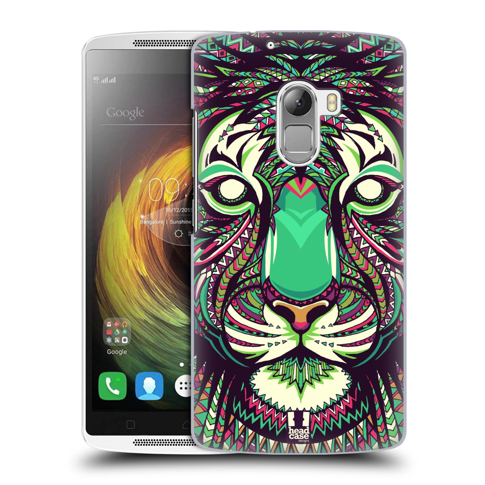 HEAD CASE pevný plastový obal na mobil LENOVO A7010 / A7010 DUAL / K4 Note / Vibe X3 lite vzor Aztécký motiv zvíře 2 tygr