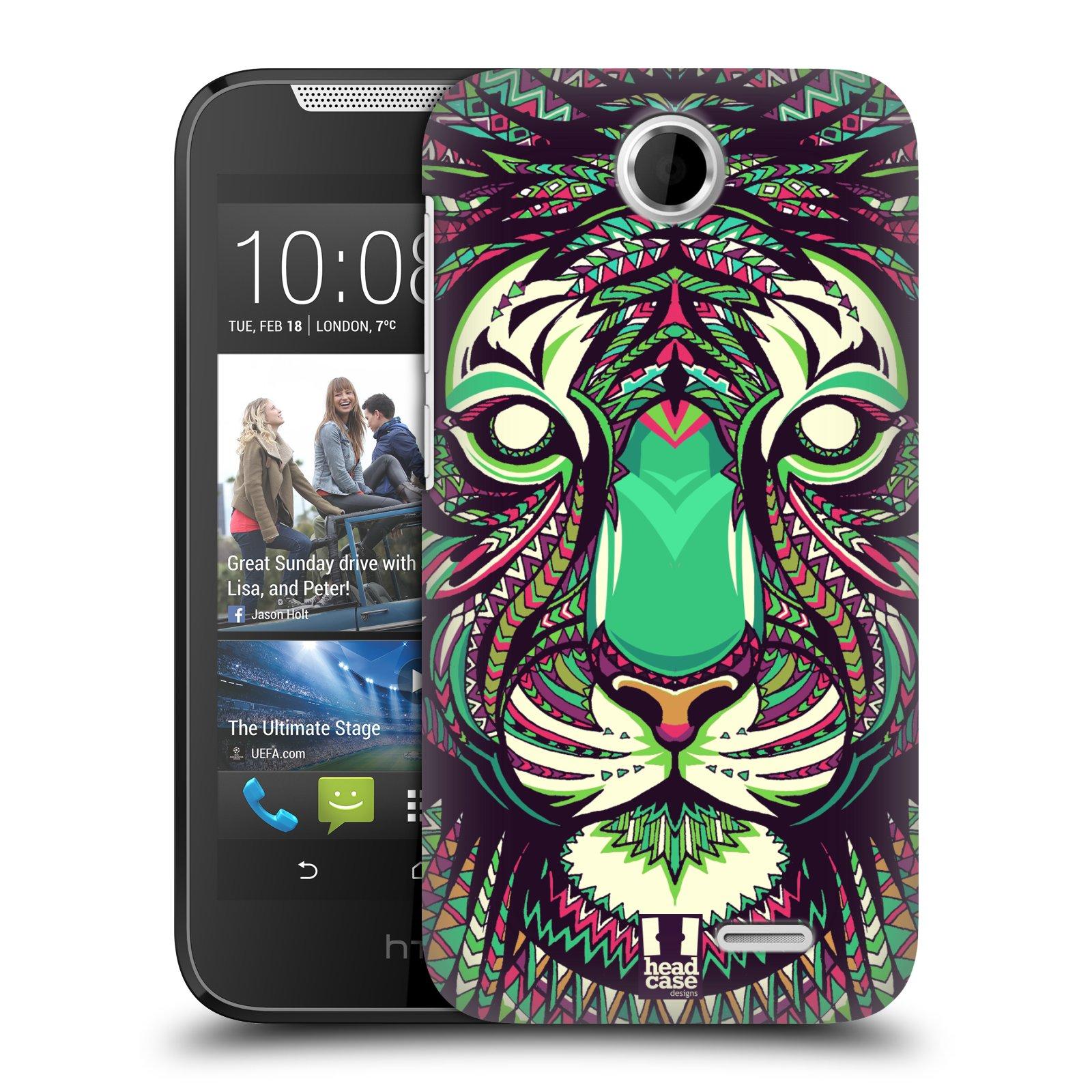 HEAD CASE plastový obal na mobil HTC Desire 310 vzor Aztécký motiv zvíře 2 tygr