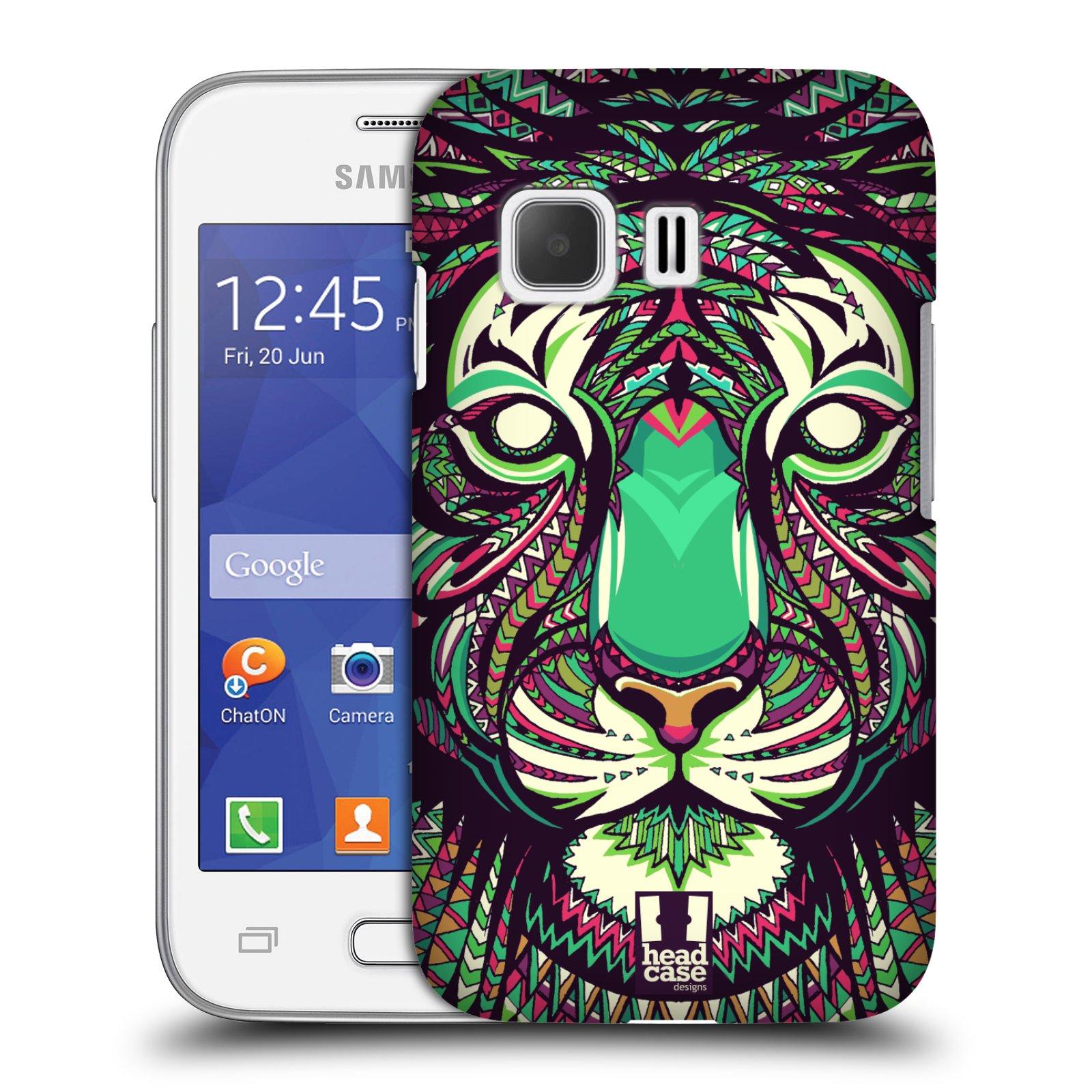 HEAD CASE plastový obal na mobil SAMSUNG Galaxy Young 2 (G130) vzor Aztécký motiv zvíře 2 tygr
