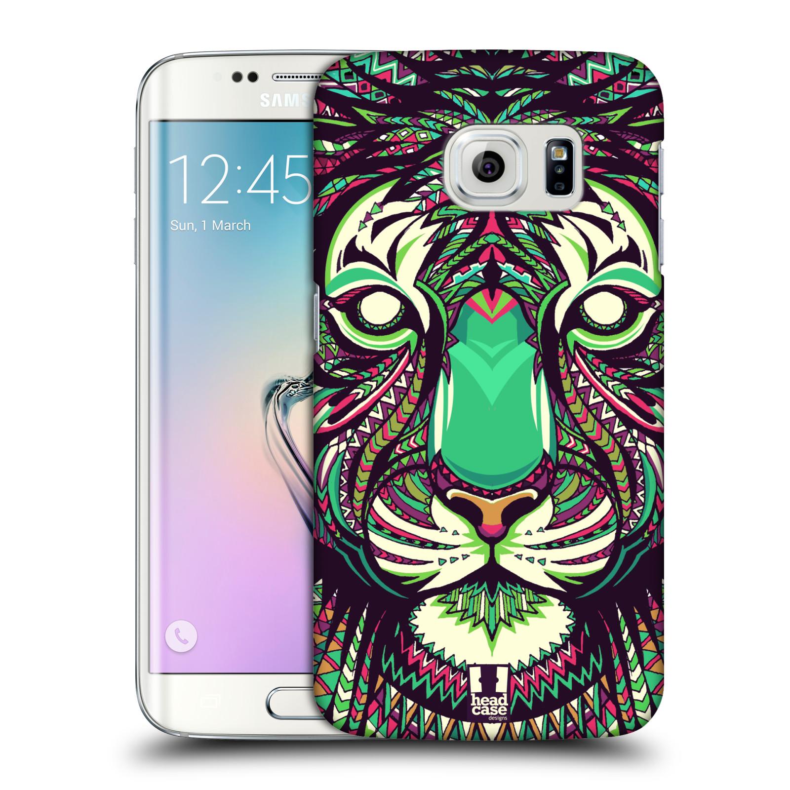 HEAD CASE plastový obal na mobil SAMSUNG Galaxy S6 EDGE (G9250, G925, G925F) vzor Aztécký motiv zvíře 2 tygr