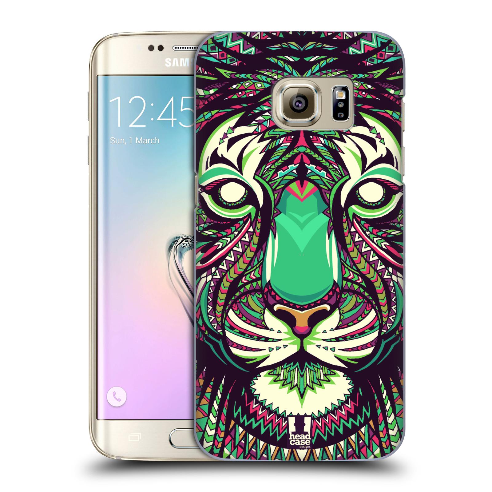 HEAD CASE plastový obal na mobil SAMSUNG GALAXY S7 EDGE vzor Aztécký motiv zvíře 2 tygr