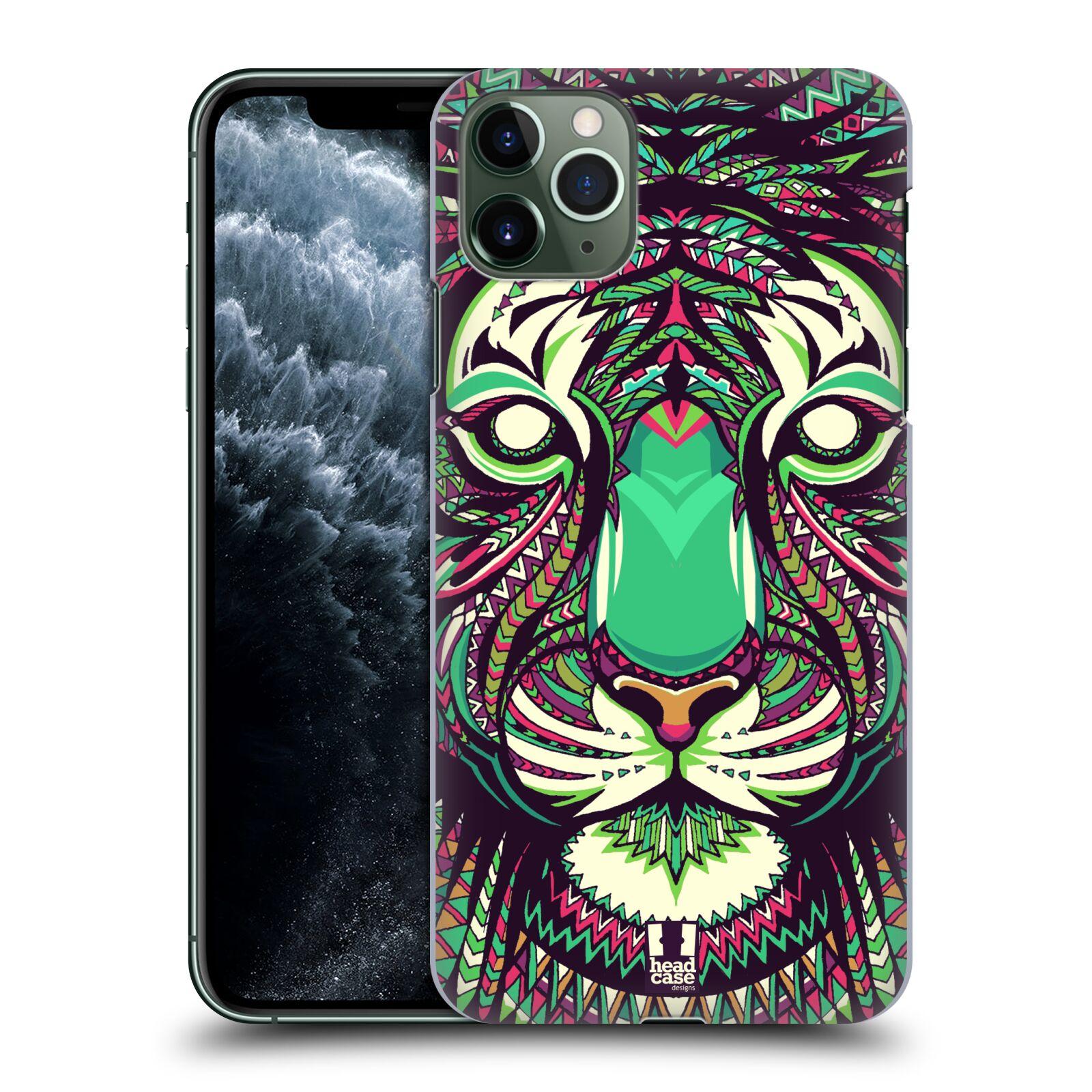 Pouzdro na mobil Apple Iphone 11 PRO MAX - HEAD CASE - vzor Aztécký motiv zvíře 2 tygr
