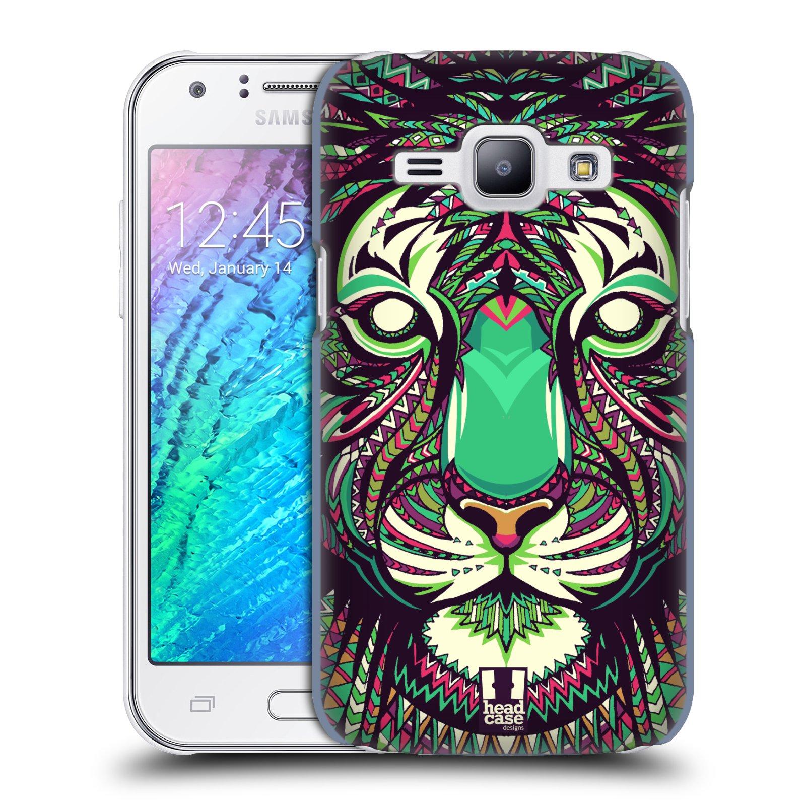 HEAD CASE plastový obal na mobil SAMSUNG Galaxy J1, J100 vzor Aztécký motiv zvíře 2 tygr