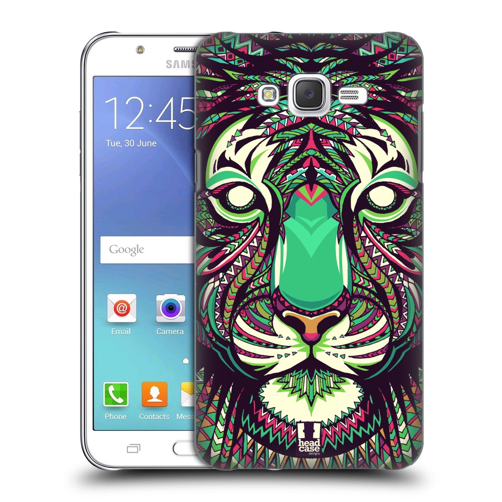 HEAD CASE plastový obal na mobil SAMSUNG Galaxy J7, J700 vzor Aztécký motiv zvíře 2 tygr