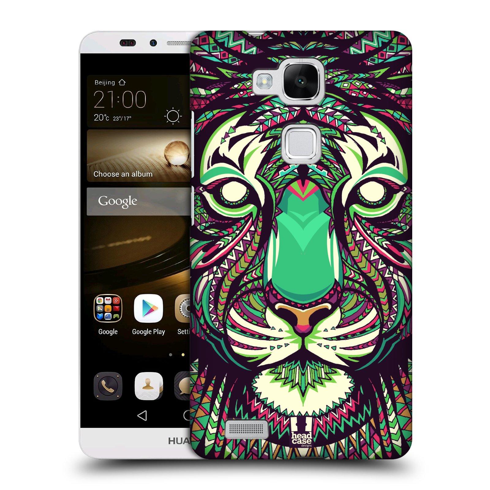 HEAD CASE plastový obal na mobil Huawei Mate 7 vzor Aztécký motiv zvíře 2 tygr