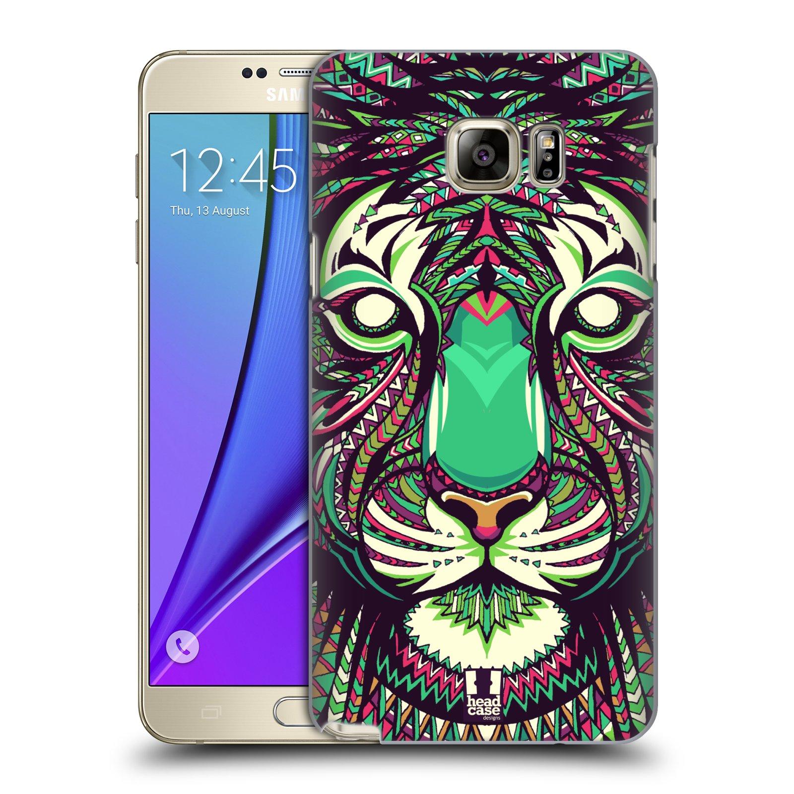 HEAD CASE plastový obal na mobil SAMSUNG Galaxy Note 5 (N920) vzor Aztécký motiv zvíře 2 tygr
