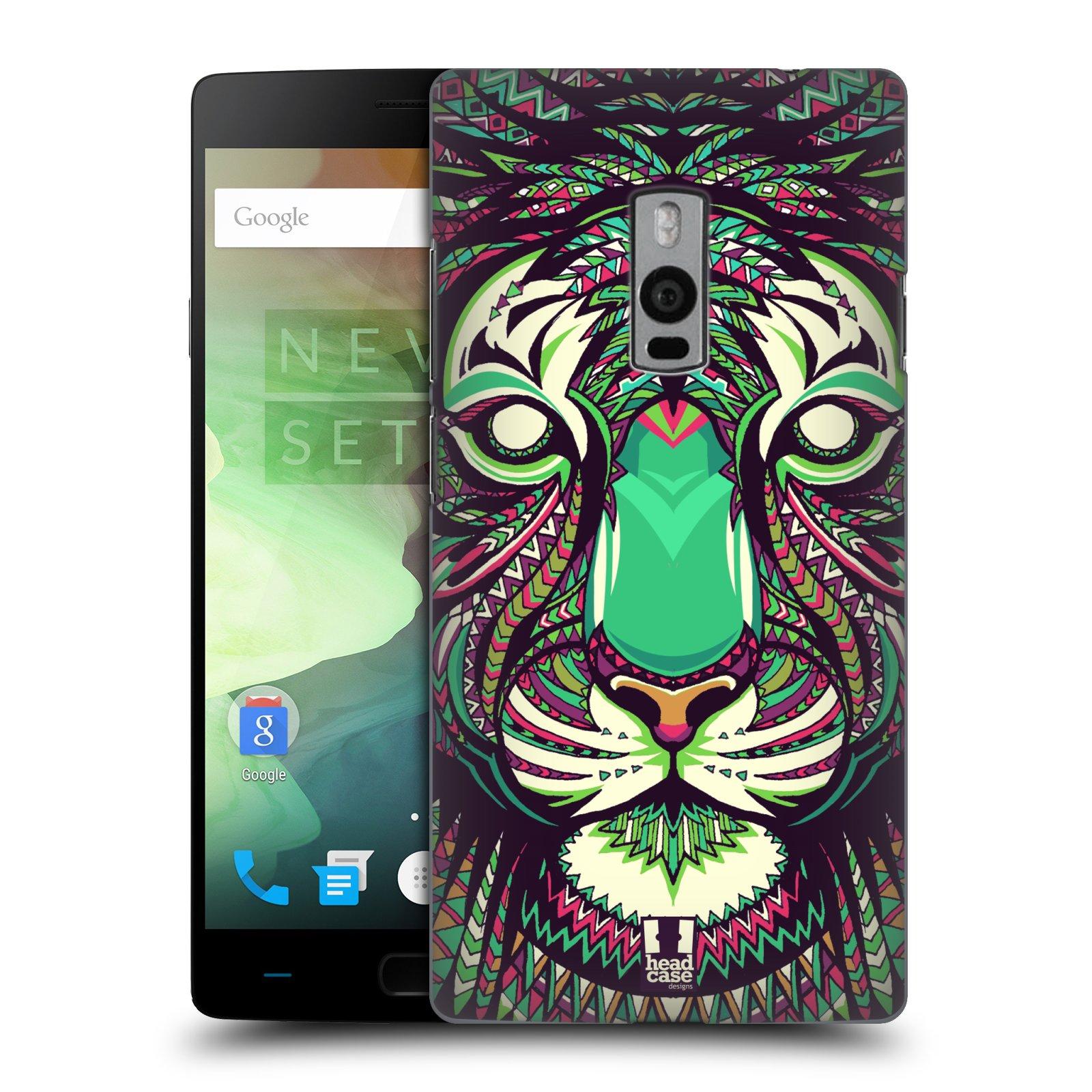 HEAD CASE pevný plastový obal na mobil OnePlus 2  ( TWO ) vzor Aztécký motiv zvíře 2 tygr
