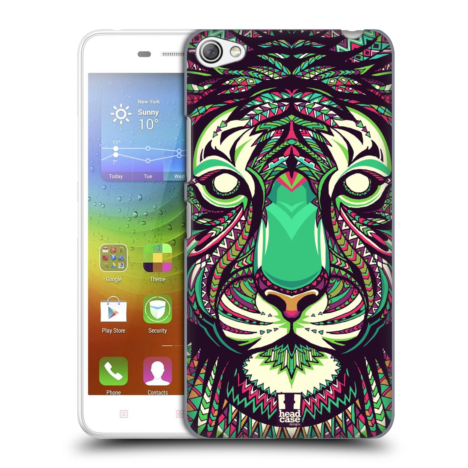 HEAD CASE pevný plastový obal na mobil LENOVO S60 / LENOVO S60 DUAL SIM vzor Aztécký motiv zvíře 2 tygr