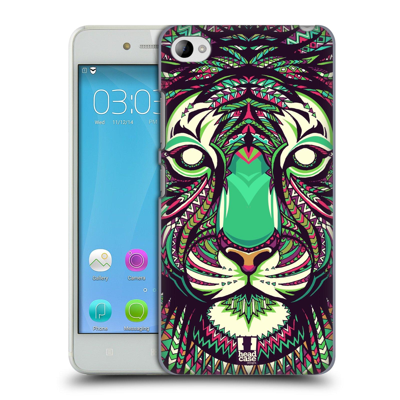 HEAD CASE pevný plastový obal na mobil LENOVO S90 vzor Aztécký motiv zvíře 2 tygr