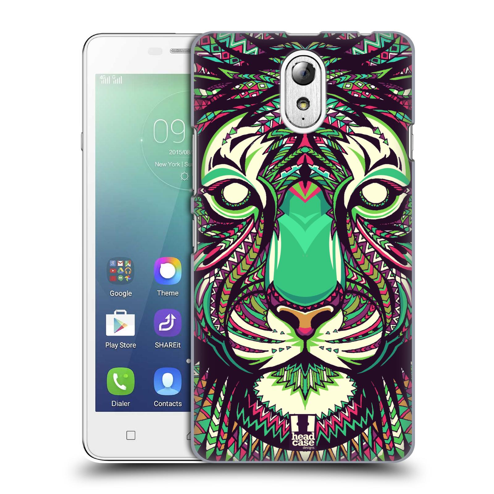 HEAD CASE pevný plastový obal na mobil LENOVO VIBE P1m / LENOVO VIBE p1m DUAL SIM vzor Aztécký motiv zvíře 2 tygr