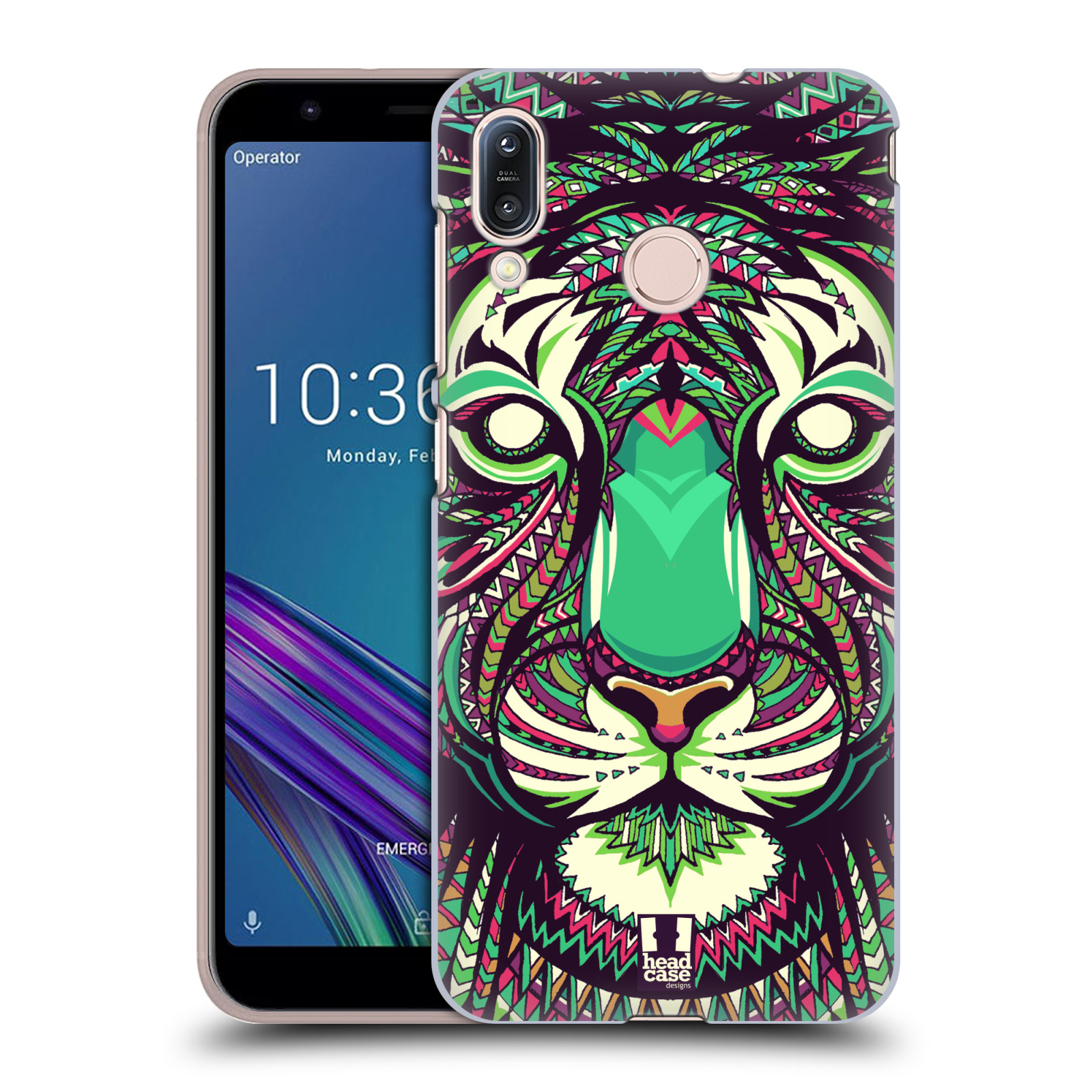 Pouzdro na mobil Asus Zenfone Max M1 (ZB555KL) - HEAD CASE - vzor Aztécký motiv zvíře 2 tygr