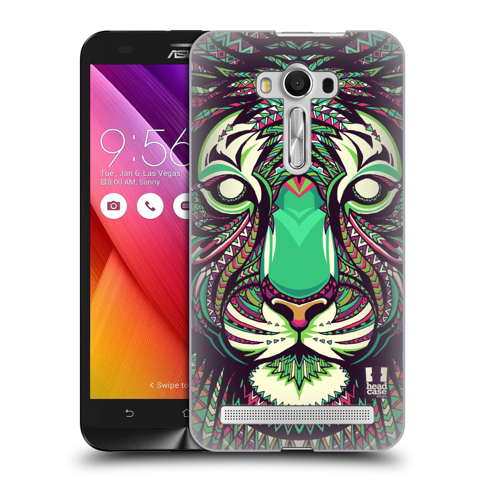 HEAD CASE plastový obal na mobil Asus Zenfone 2 LASER (5,5 displej ZE550KL) vzor Aztécký motiv zvíře 2 tygr