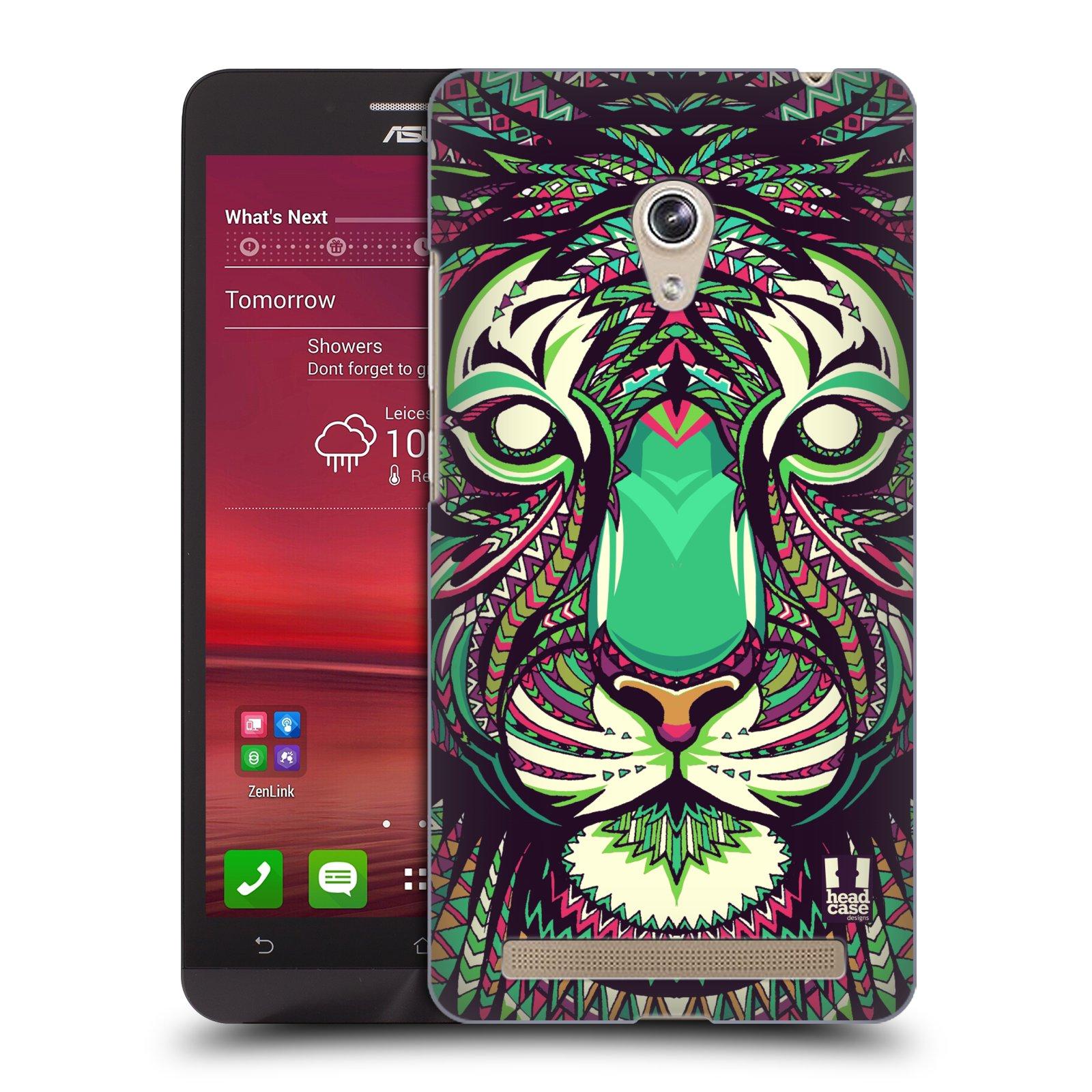 HEAD CASE plastový obal na mobil Asus Zenfone 6 vzor Aztécký motiv zvíře 2 tygr