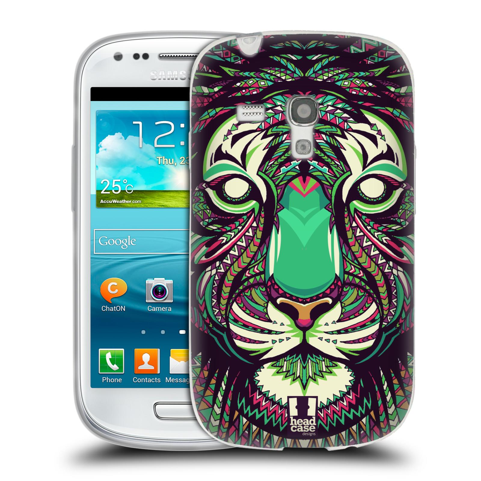 HEAD CASE silikonový obal na mobil Samsung Galaxy S3 MINI i8190 vzor Aztécký motiv zvíře 2 tygr