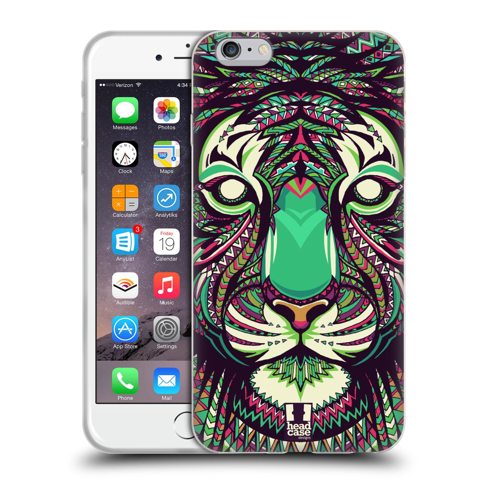 HEAD CASE silikonový obal na mobil Apple Iphone 6 PLUS/ 6S PLUS vzor Aztécký motiv zvíře 2 tygr