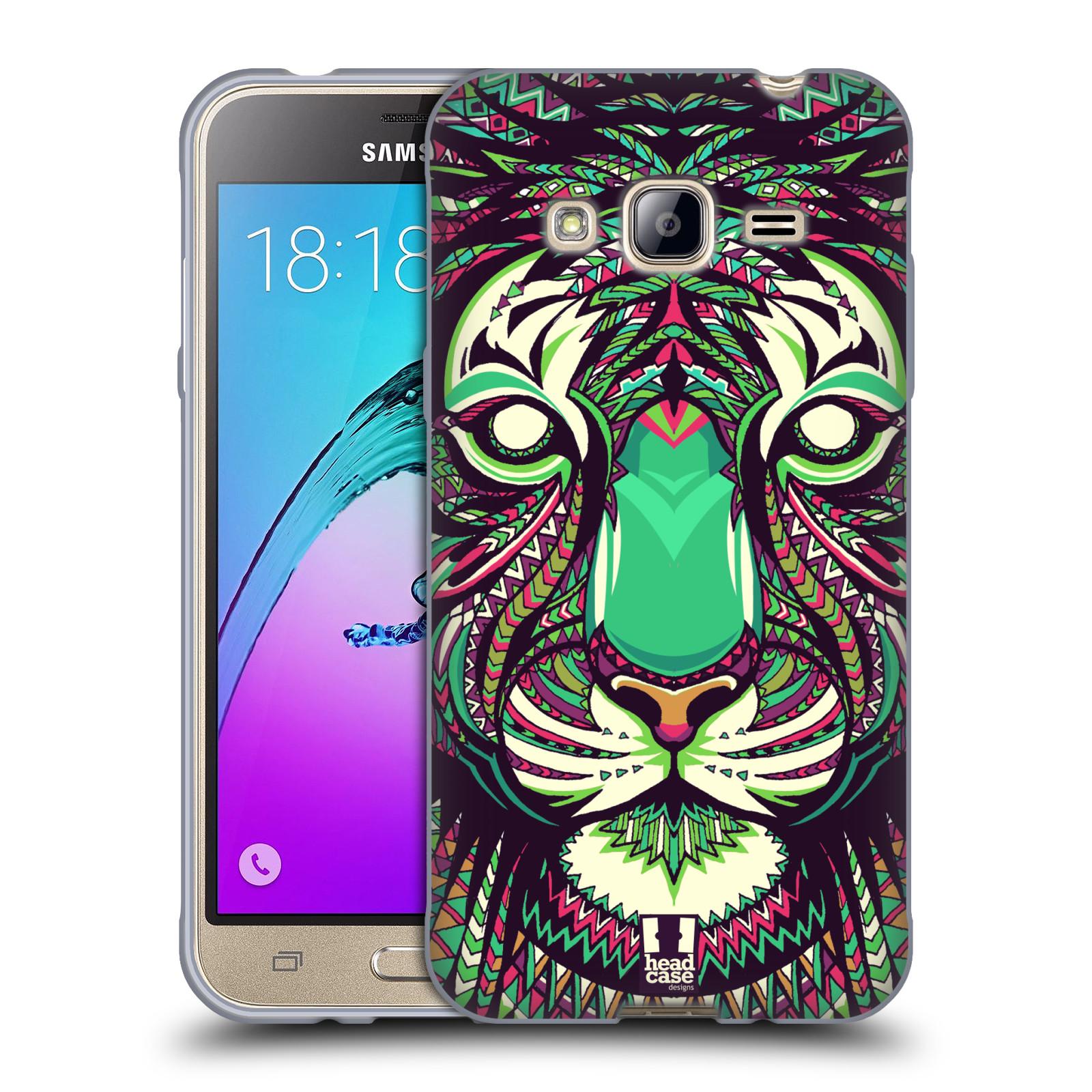 HEAD CASE silikonový obal na mobil Samsung Galaxy J3, J3 2016 vzor Aztécký motiv zvíře 2 tygr