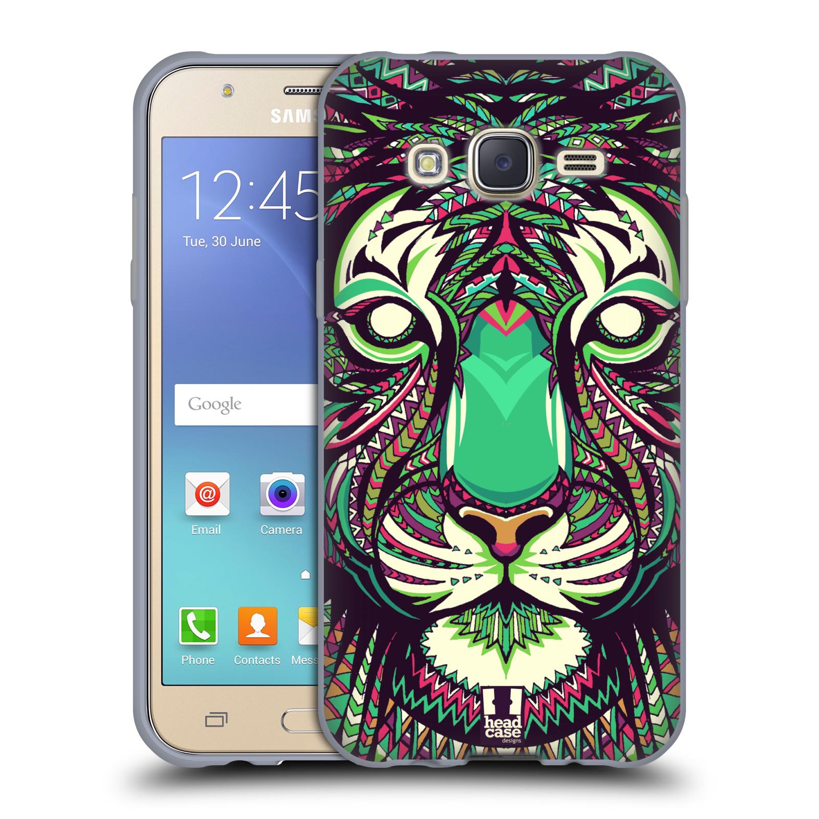HEAD CASE silikonový obal na mobil Samsung Galaxy J5, J500, (J5 DUOS) vzor Aztécký motiv zvíře 2 tygr