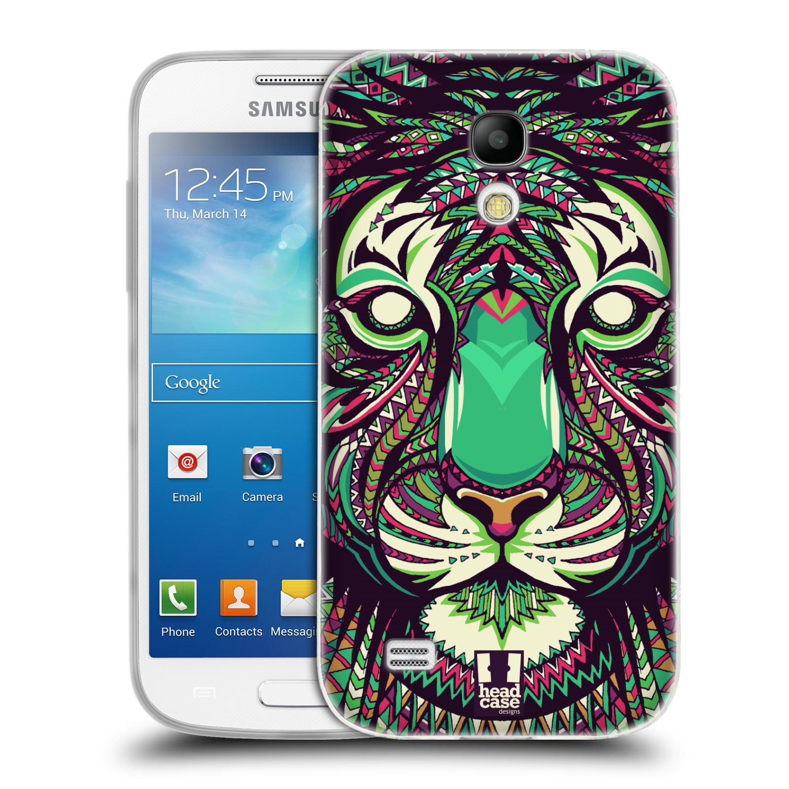 HEAD CASE silikonový obal na mobil Samsung Galaxy S4 MINI vzor Aztécký motiv zvíře 2 tygr