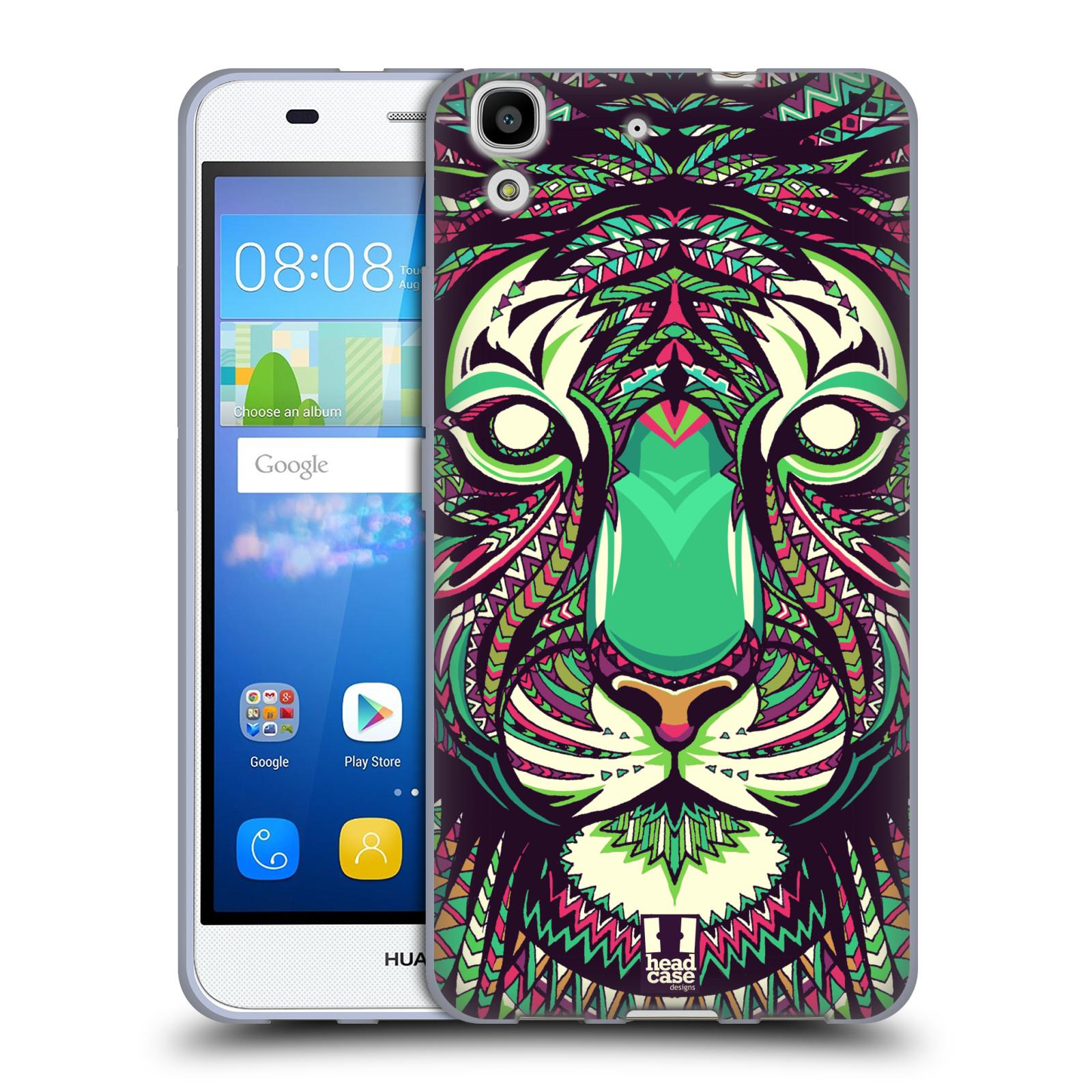 HEAD CASE silikonový obal na mobil HUAWEI Y6 vzor Aztécký motiv zvíře 2 tygr