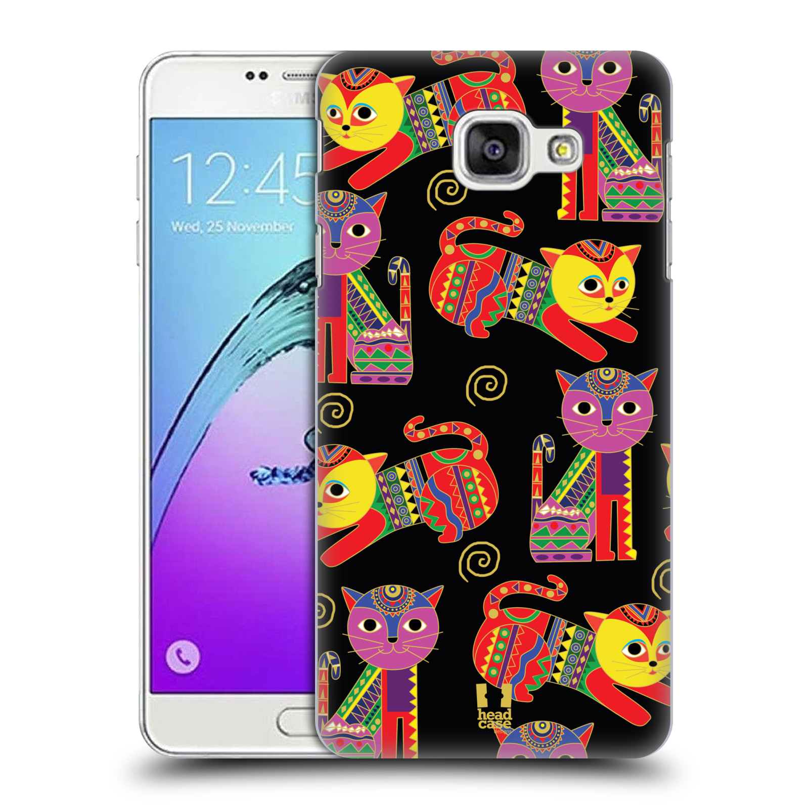 HEAD-CASE-DESIGNS-AZTEC-CATS-PATTERN-HARD-BACK-CASE-FOR-SAMSUNG-GALAXY-A7-2017