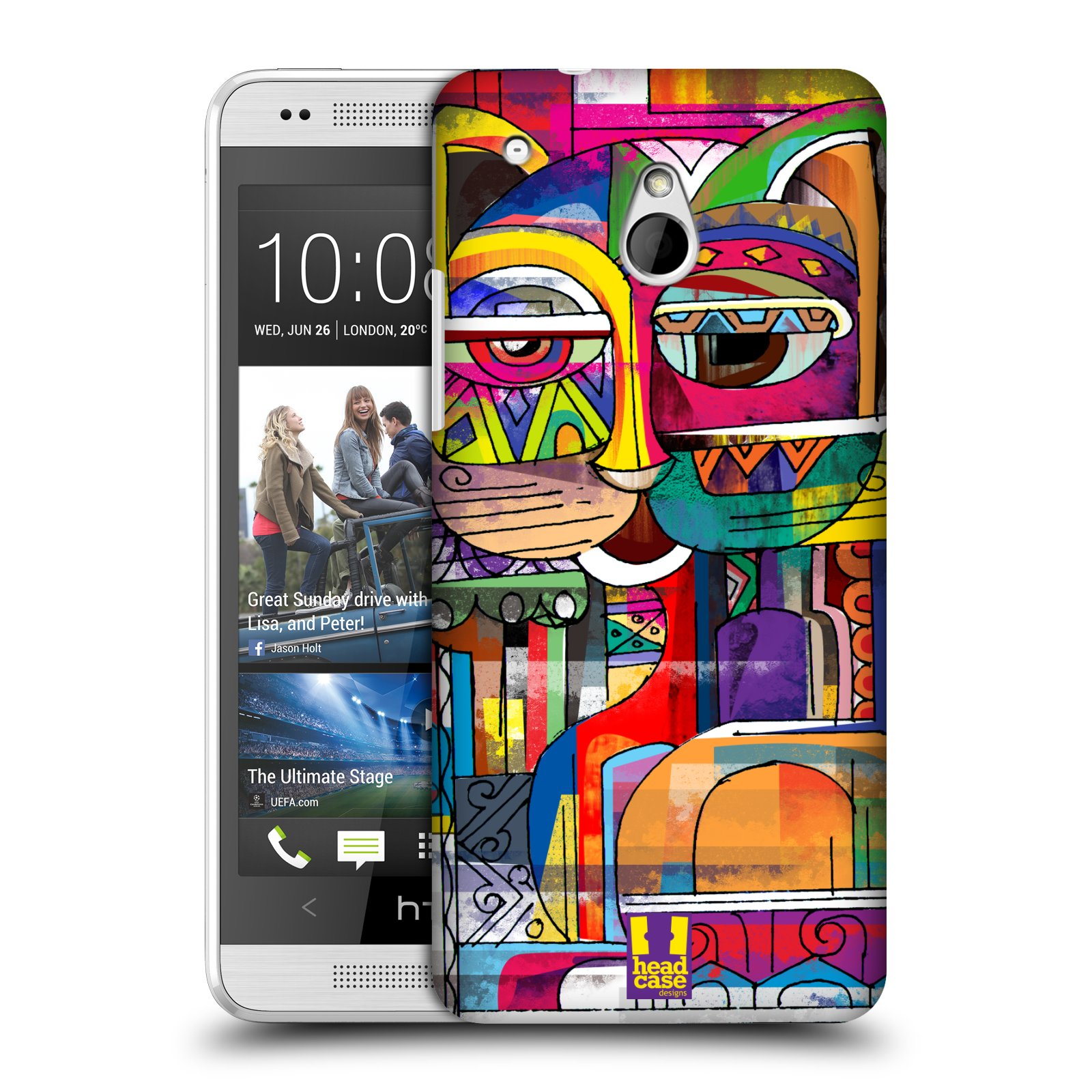 HEAD CASE DESIGNS AZTEC CAT CASE COVER FOR HTC ONE MINI