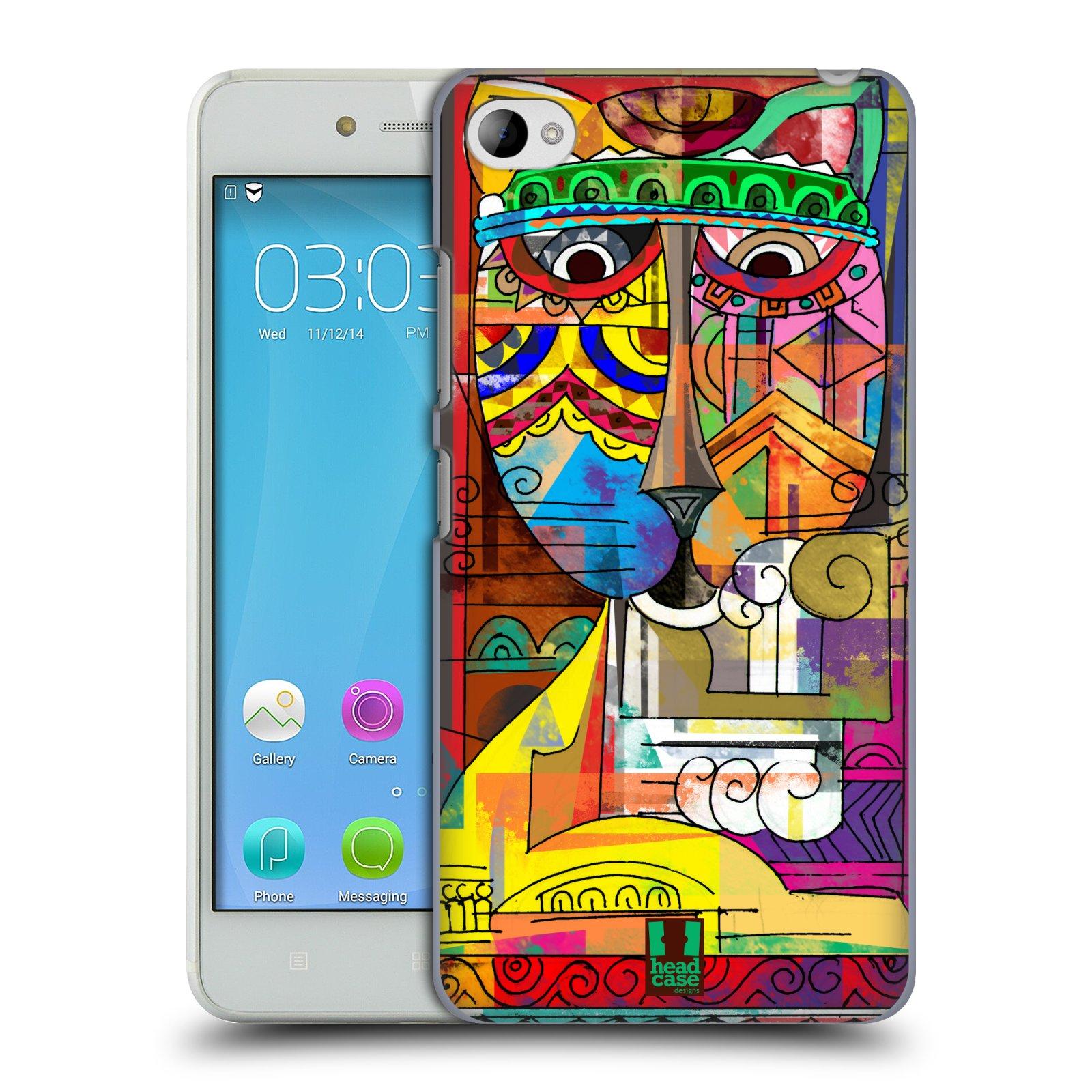 HEAD CASE pevný plastový obal na mobil LENOVO S90 vzor Aztécký vzor abstrakce kočka SIAMSKÁ