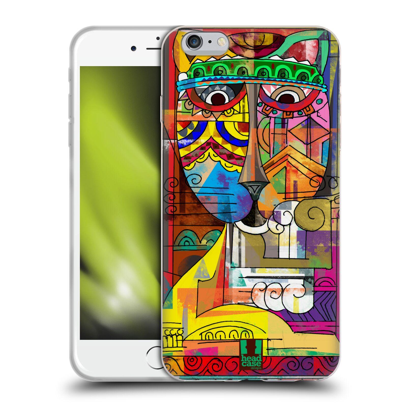 HEAD CASE silikonový obal na mobil Apple Iphone 6 PLUS/ 6S PLUS vzor Aztécký vzor abstrakce kočka SIAMSKÁ