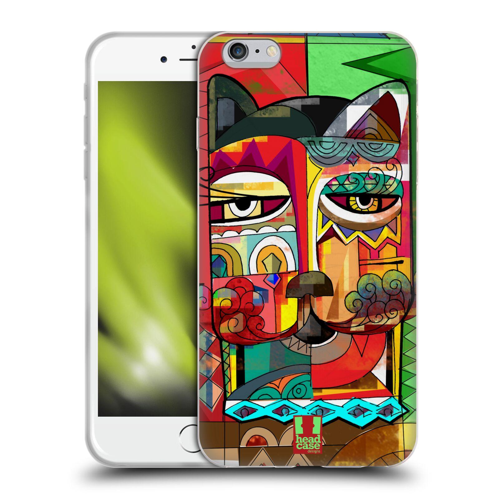 HEAD CASE silikonový obal na mobil Apple Iphone 6 PLUS/ 6S PLUS vzor Aztécký vzor abstrakce kočka SPHYNX
