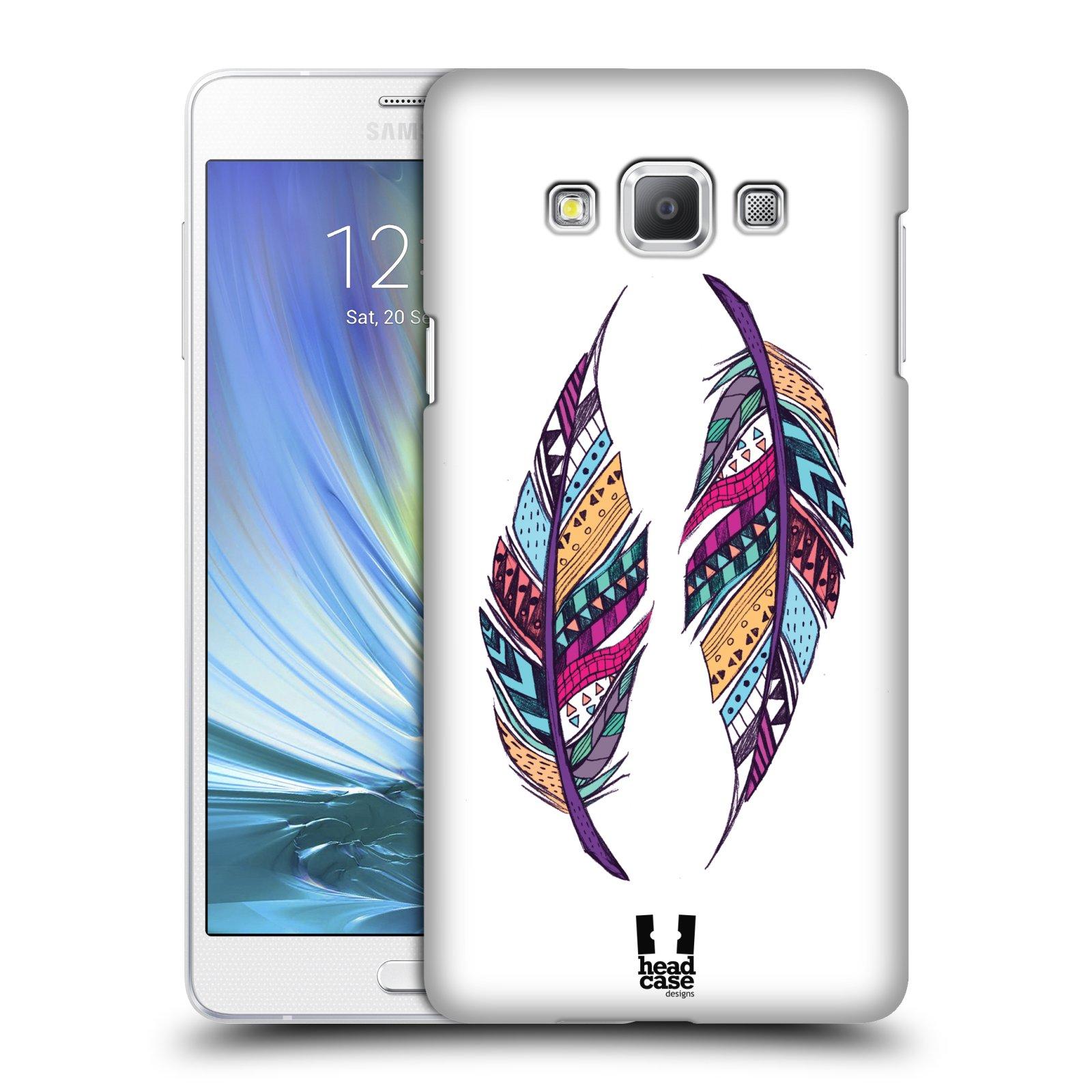 HEAD CASE plastový obal na mobil SAMSUNG GALAXY A7 vzor Aztécká pírka PÁR