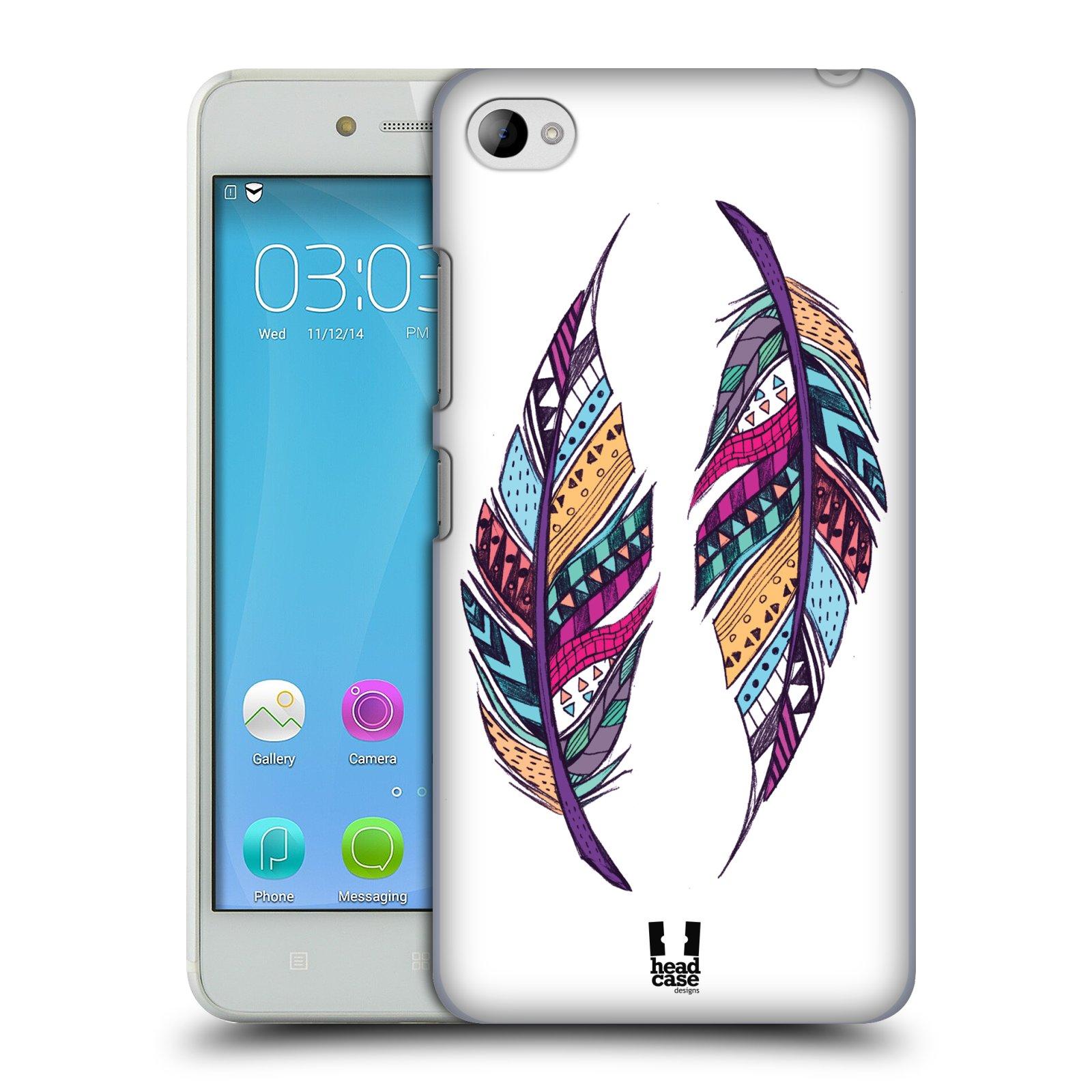 HEAD CASE pevný plastový obal na mobil LENOVO S90 vzor Aztécká pírka PÁR