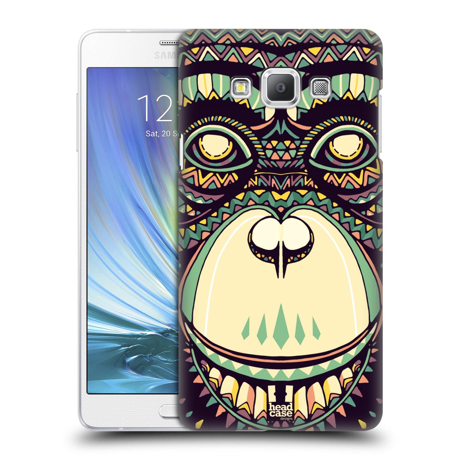 HEAD CASE plastový obal na mobil SAMSUNG GALAXY A7 vzor Aztécký motiv zvíře 3 šimpanz