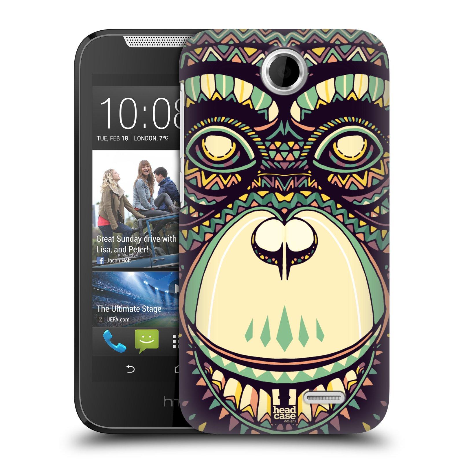 HEAD CASE plastový obal na mobil HTC Desire 310 vzor Aztécký motiv zvíře 3 šimpanz