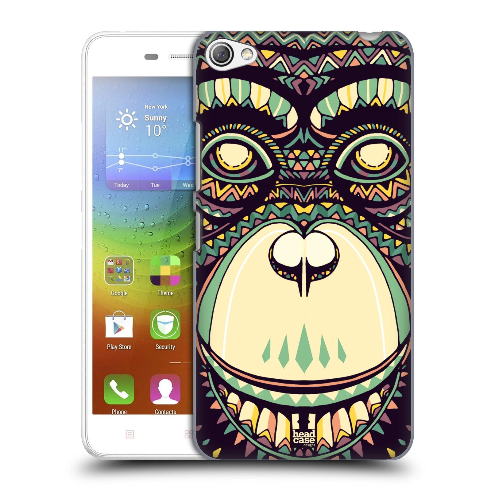 HEAD CASE pevný plastový obal na mobil LENOVO S60 / LENOVO S60 DUAL SIM vzor Aztécký motiv zvíře 3 šimpanz