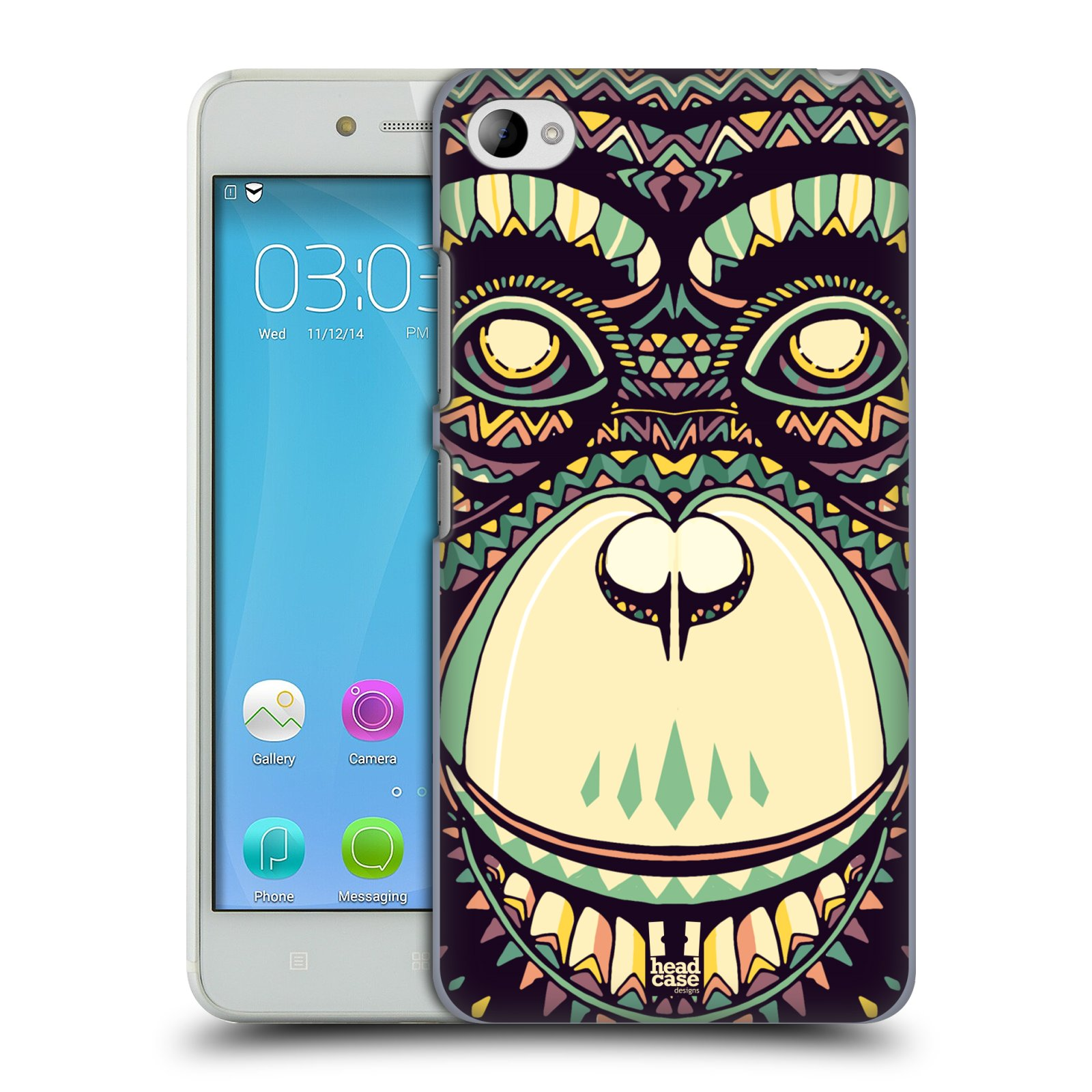 HEAD CASE pevný plastový obal na mobil LENOVO S90 vzor Aztécký motiv zvíře 3 šimpanz