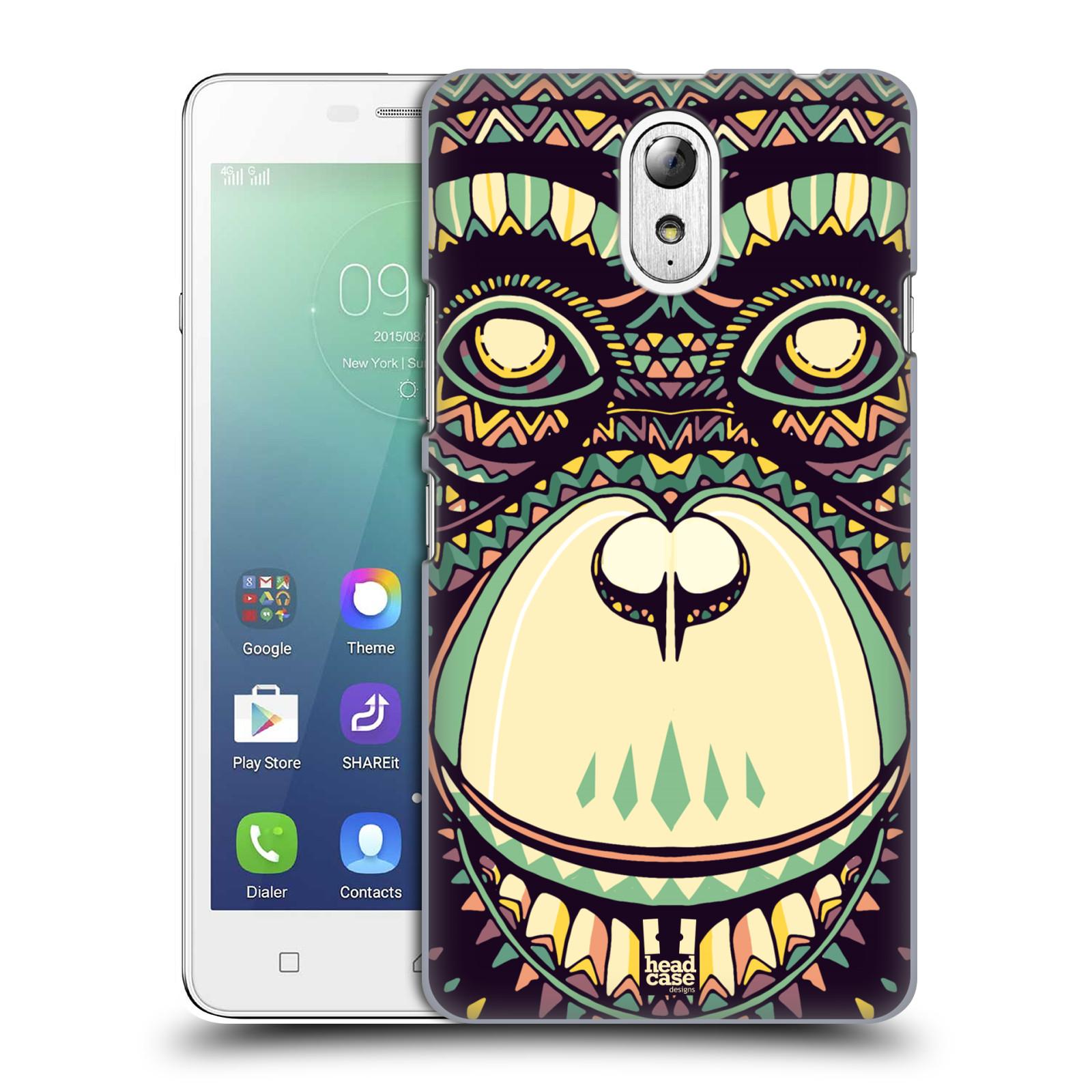HEAD CASE pevný plastový obal na mobil LENOVO VIBE P1m / LENOVO VIBE p1m DUAL SIM vzor Aztécký motiv zvíře 3 šimpanz