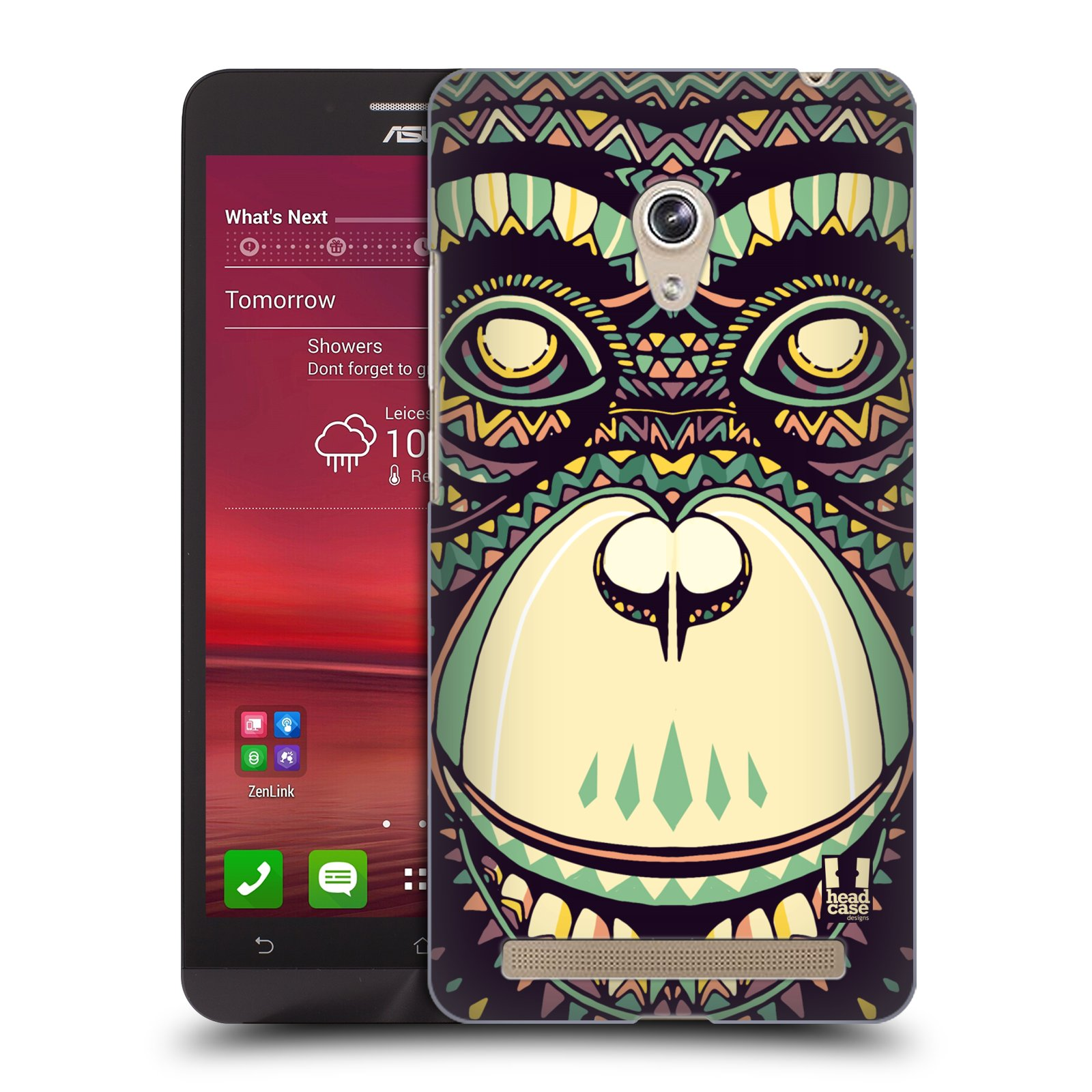 HEAD CASE plastový obal na mobil Asus Zenfone 6 vzor Aztécký motiv zvíře 3 šimpanz