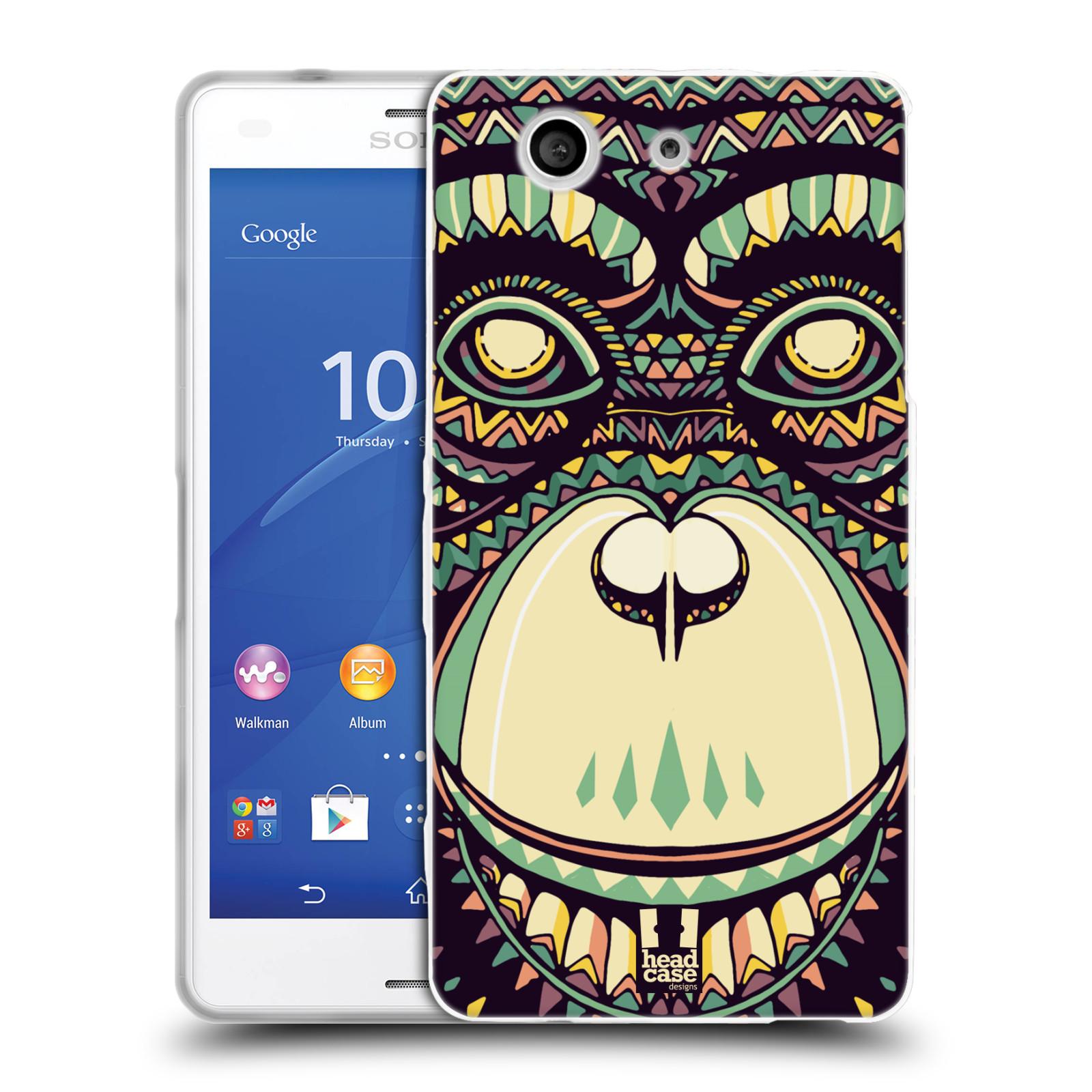 HEAD CASE silikonový obal na mobil Sony Xperia Z3 COMPACT (D5803) vzor Aztécký motiv zvíře 3 šimpanz