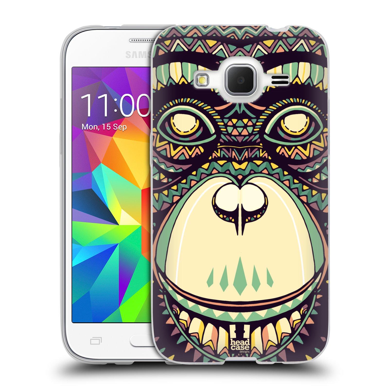 HEAD CASE silikonový obal na mobil Samsung Galaxy Core Prime (G360) vzor Aztécký motiv zvíře 3 šimpanz