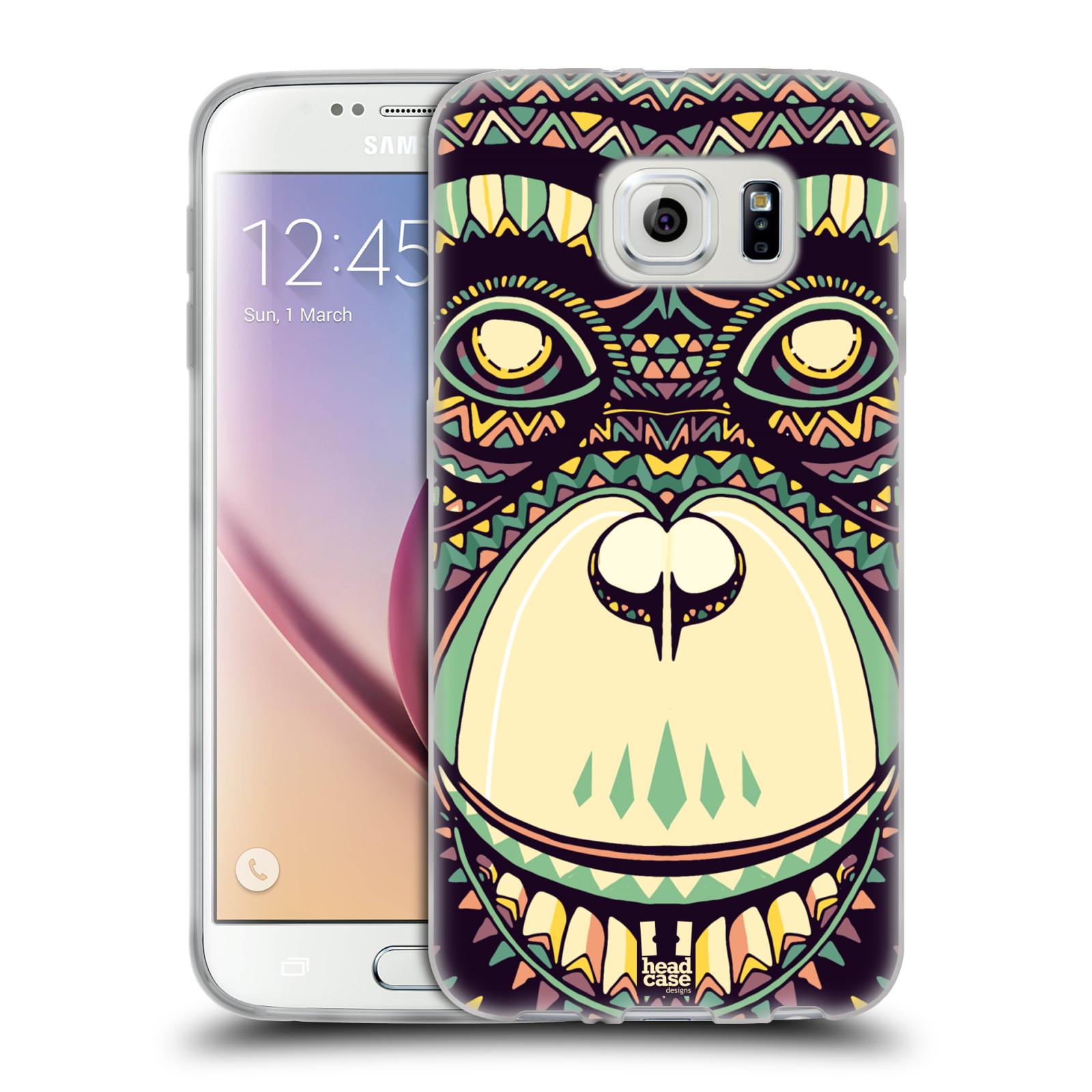 HEAD CASE silikonový obal na mobil Samsung Galaxy S6 vzor Aztécký motiv zvíře 3 šimpanz