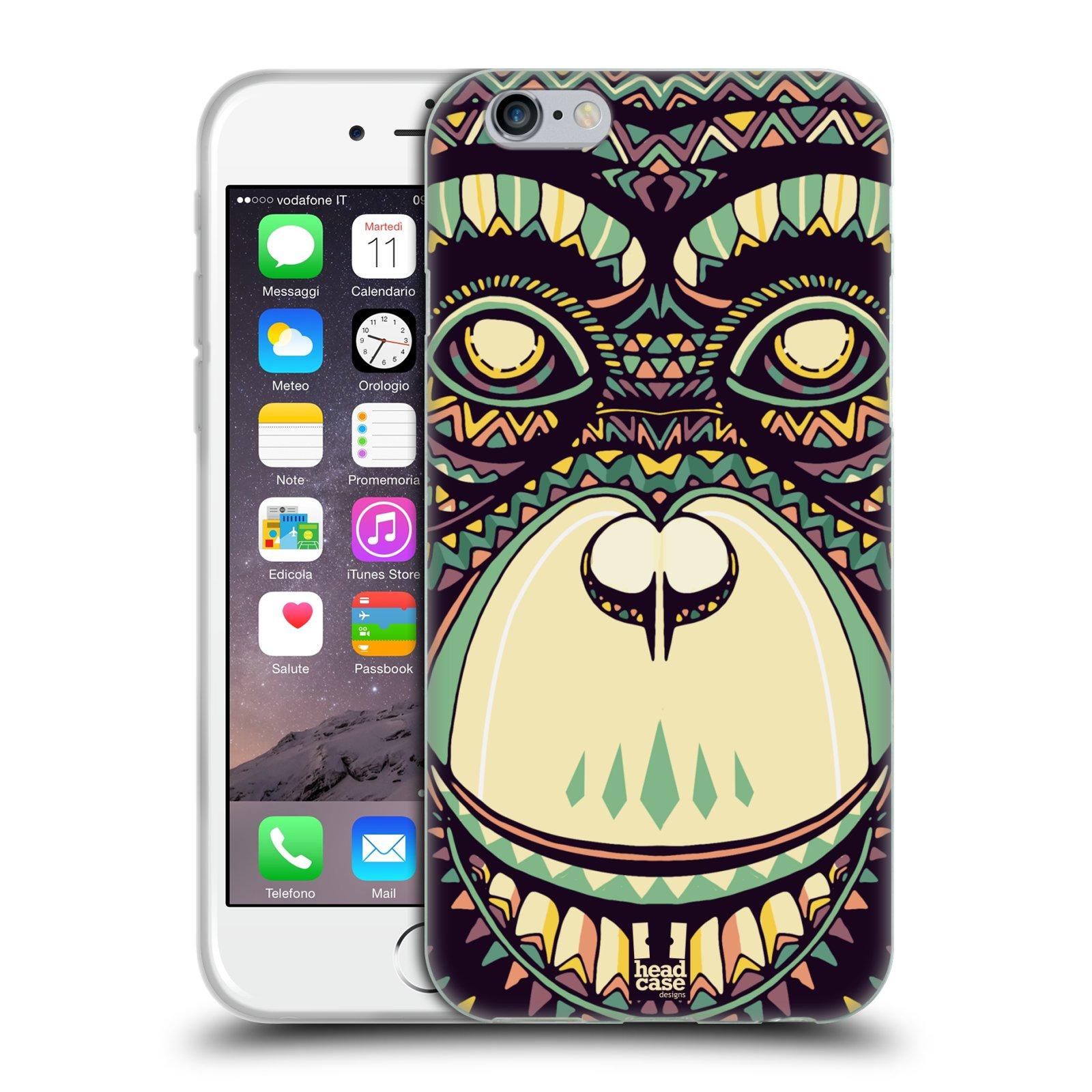 HEAD CASE silikonový obal na mobil Apple Iphone 6/6S vzor Aztécký motiv zvíře 3 šimpanz