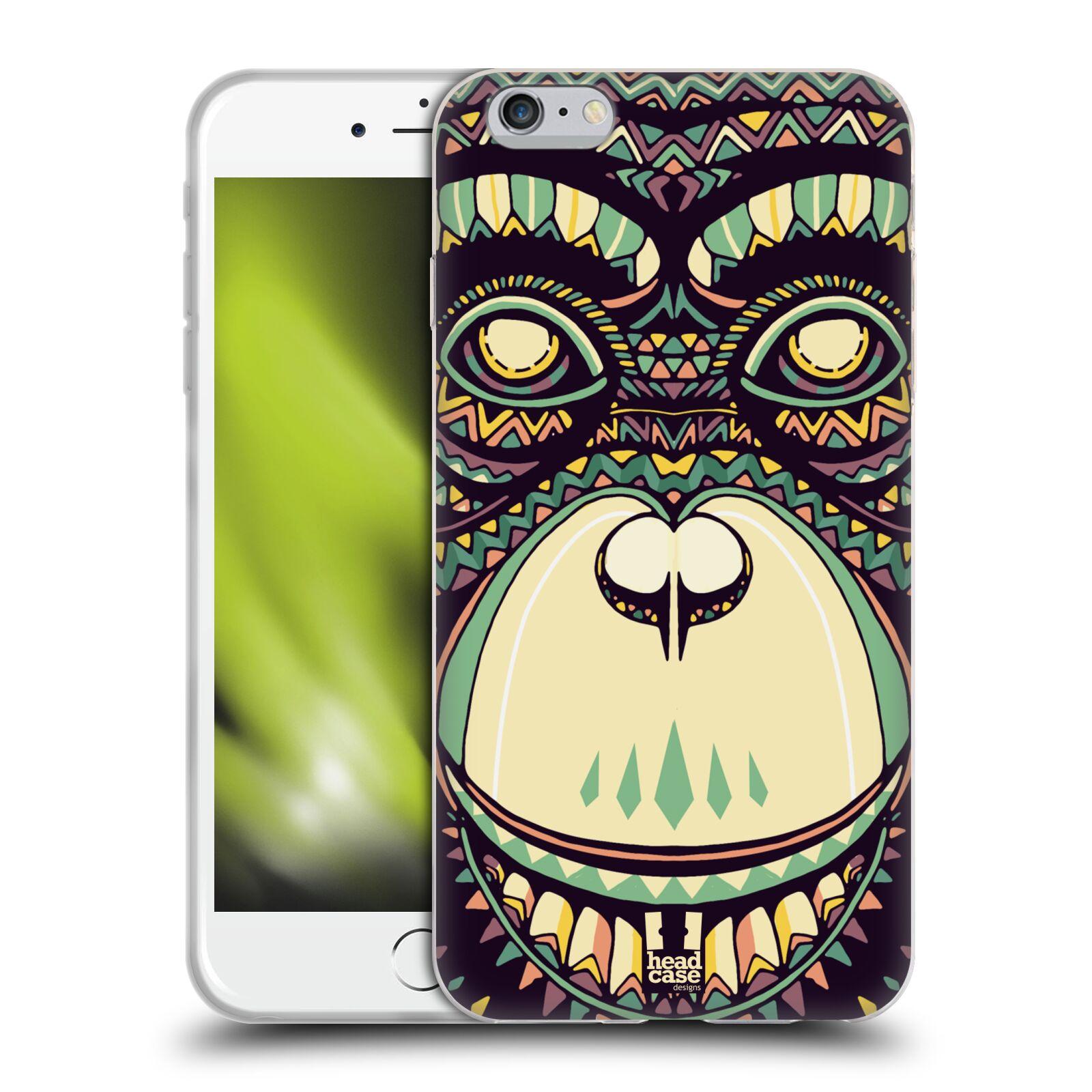 HEAD CASE silikonový obal na mobil Apple Iphone 6 PLUS/ 6S PLUS vzor Aztécký motiv zvíře 3 šimpanz