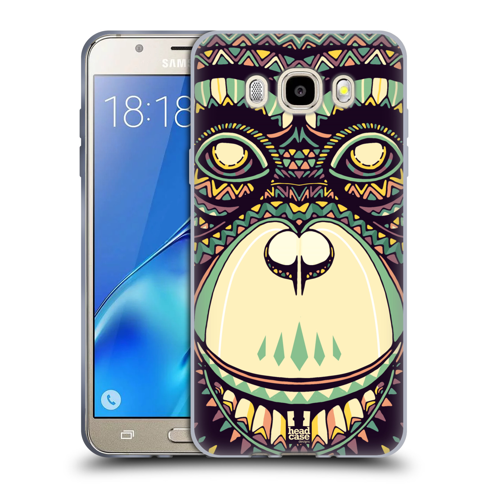 HEAD CASE silikonový obal, kryt na mobil Samsung Galaxy J5 2016, J510, J510F, (J510F DUAL SIM) vzor Aztécký motiv zvíře 3 šimpanz