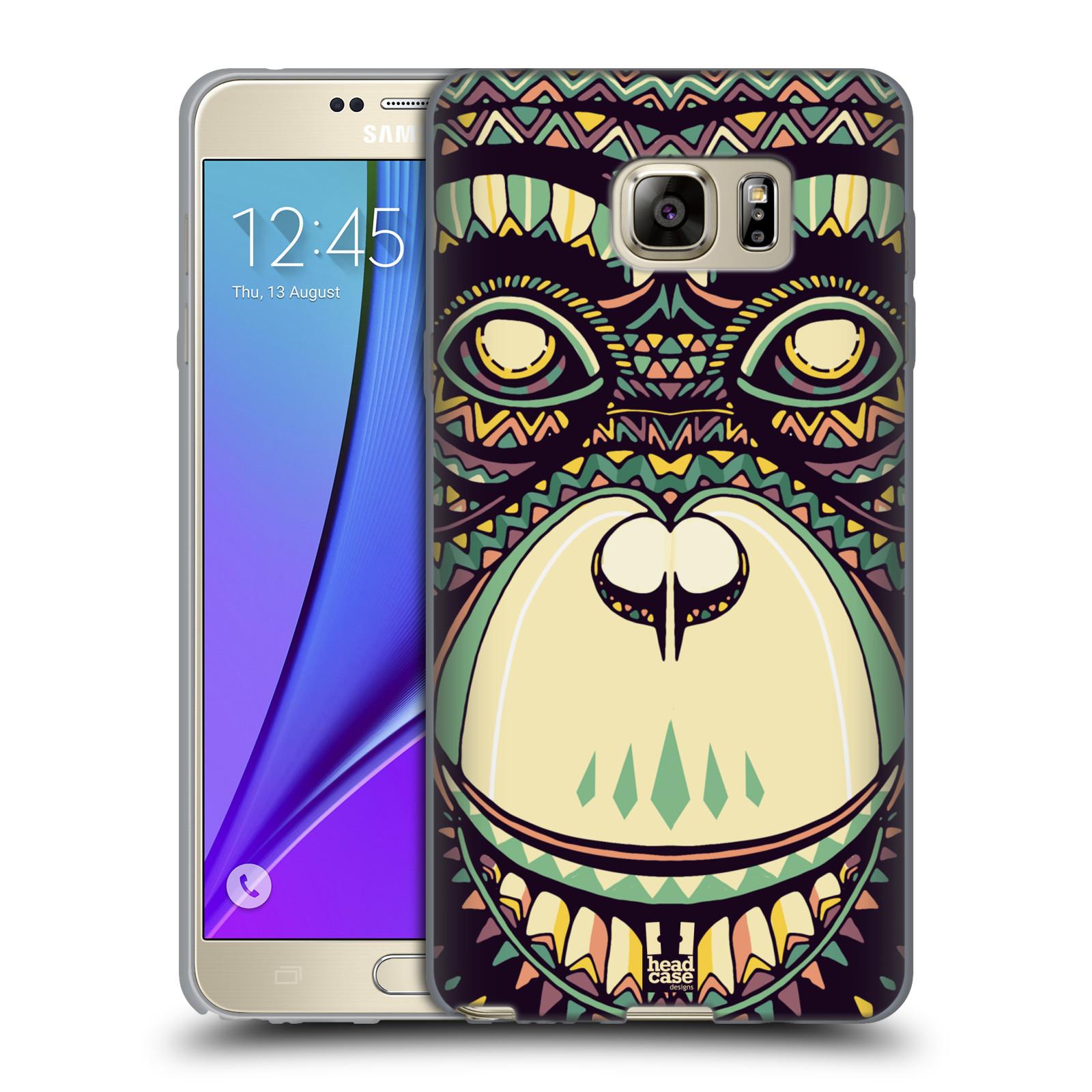 HEAD CASE silikonový obal na mobil Samsung Galaxy Note 5 (N920) vzor Aztécký motiv zvíře 3 šimpanz