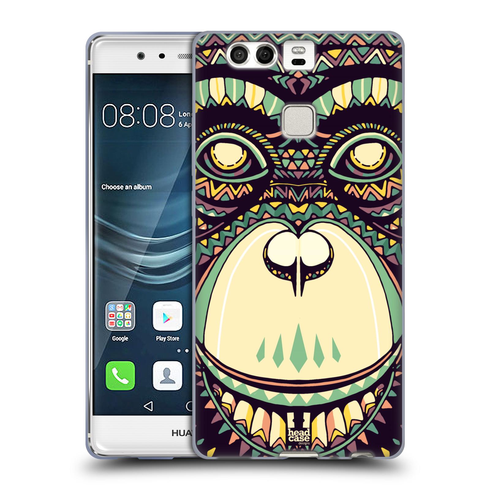 HEAD CASE silikonový obal na mobil Huawei P9 / P9 DUAL SIM vzor Aztécký motiv zvíře 3 šimpanz