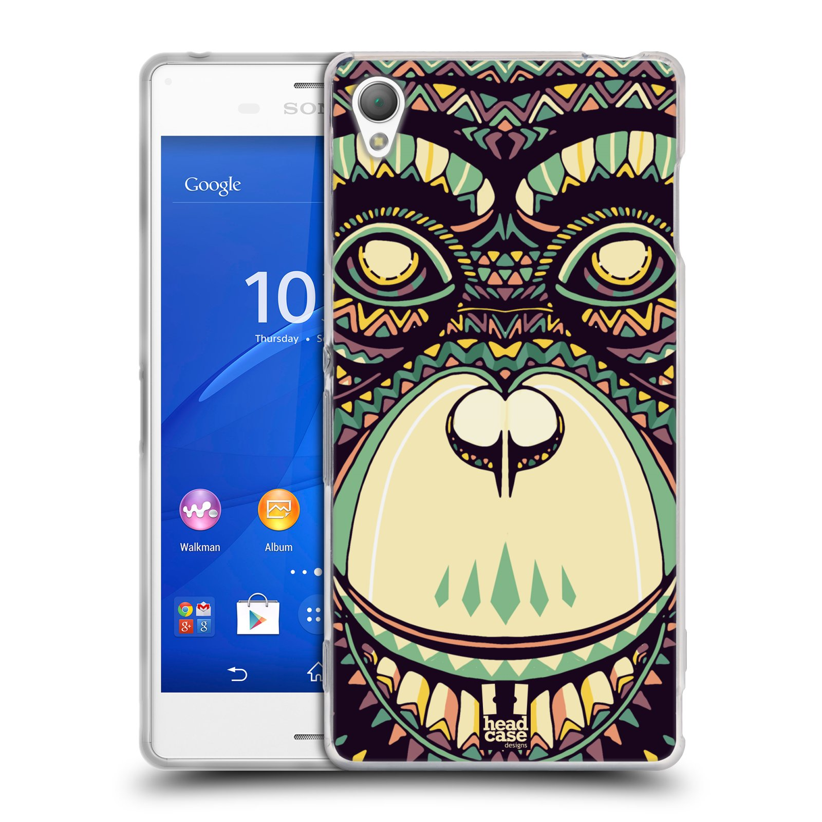 HEAD CASE silikonový obal na mobil Sony Xperia Z3 vzor Aztécký motiv zvíře 3 šimpanz