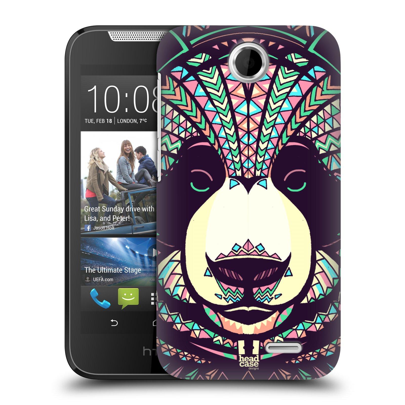 HEAD CASE plastový obal na mobil HTC Desire 310 vzor Aztécký motiv zvíře 3 panda