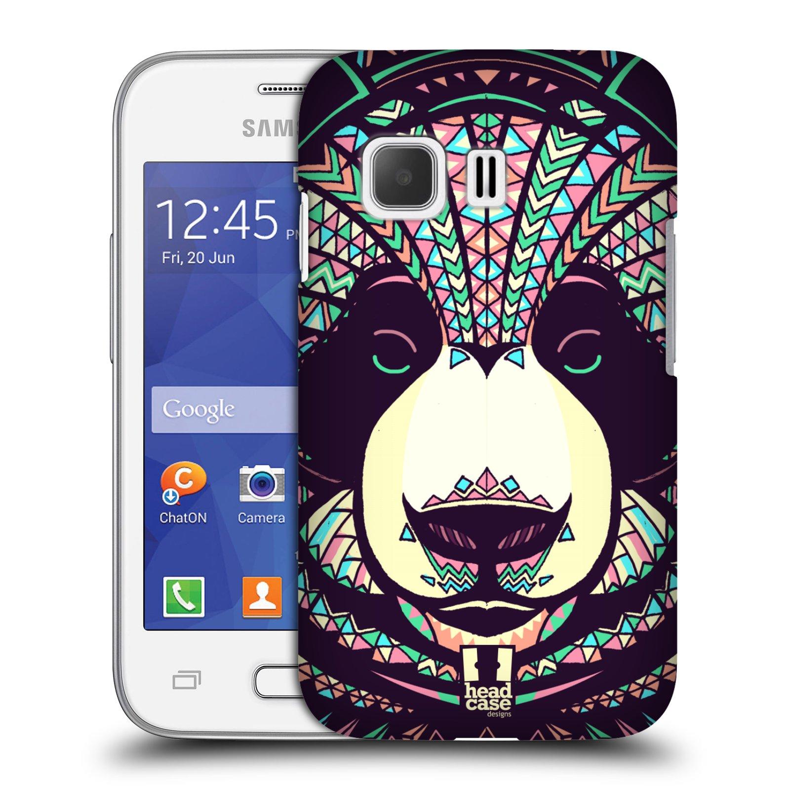 HEAD CASE plastový obal na mobil SAMSUNG Galaxy Young 2 (G130) vzor Aztécký motiv zvíře 3 panda